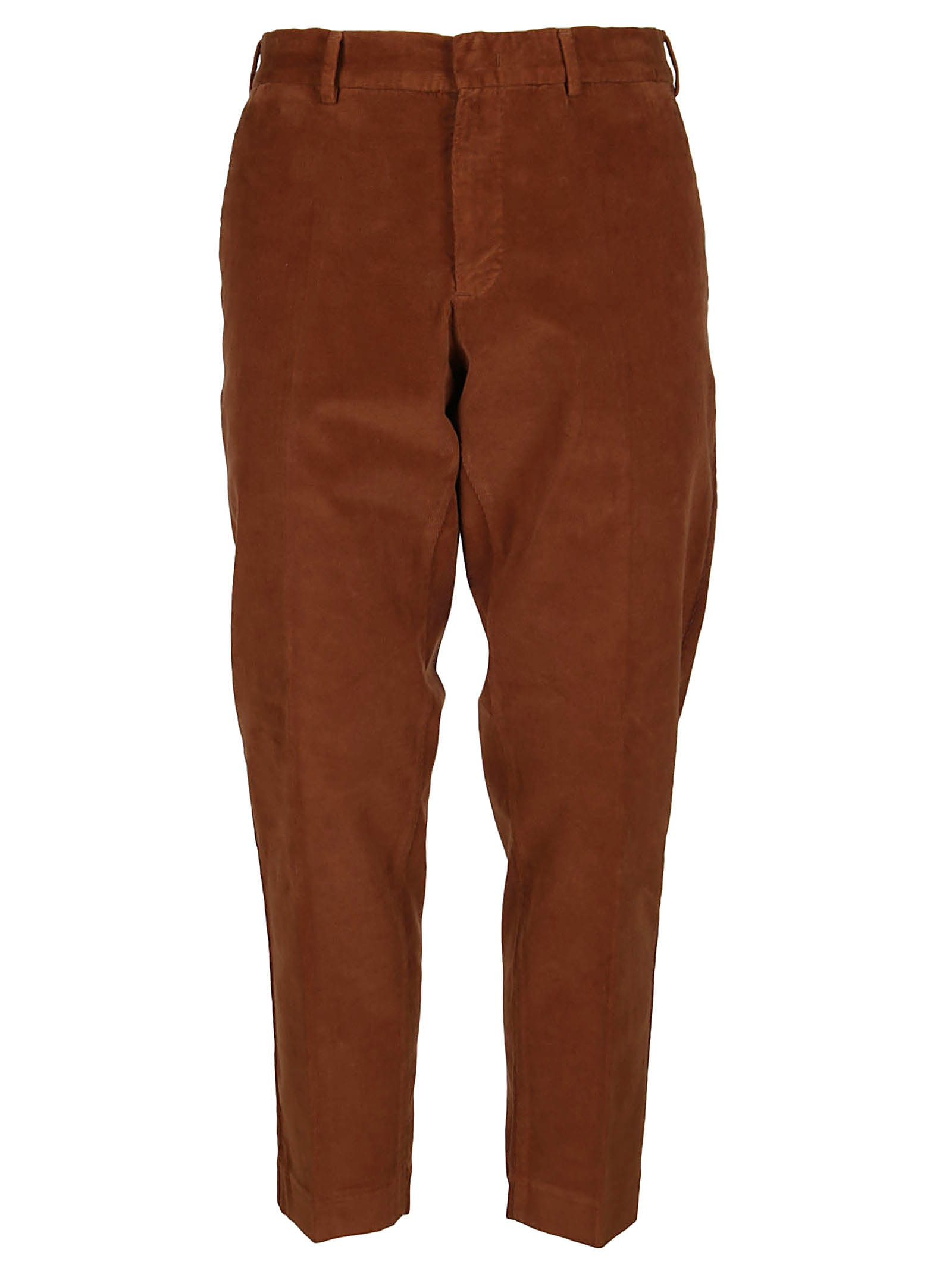 PT01 Brown Cotton Trousers