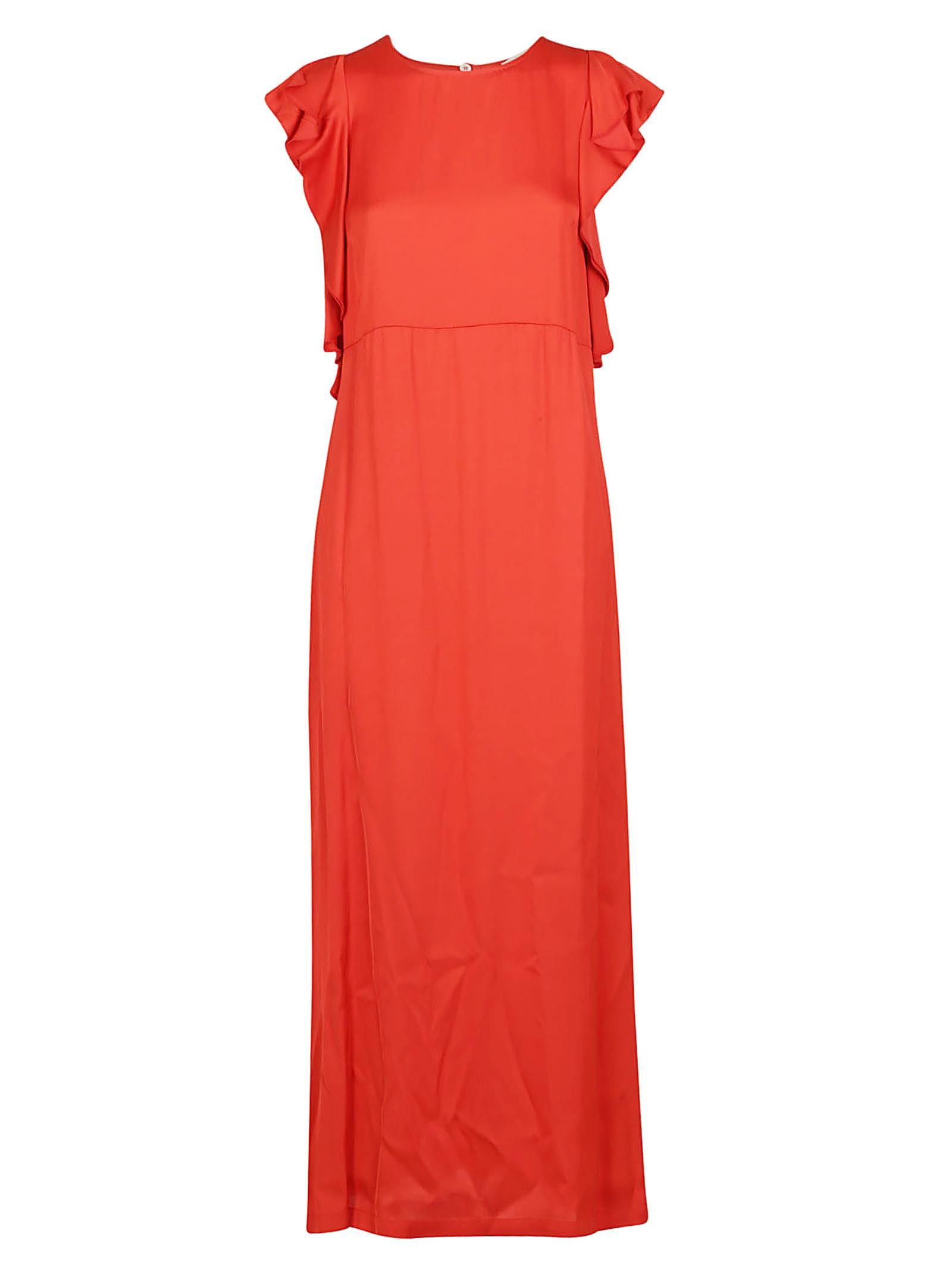 Buy SEMICOUTURE Semicouture Ruffled Sleeve Maxi Dress online, shop SEMICOUTURE with free shipping