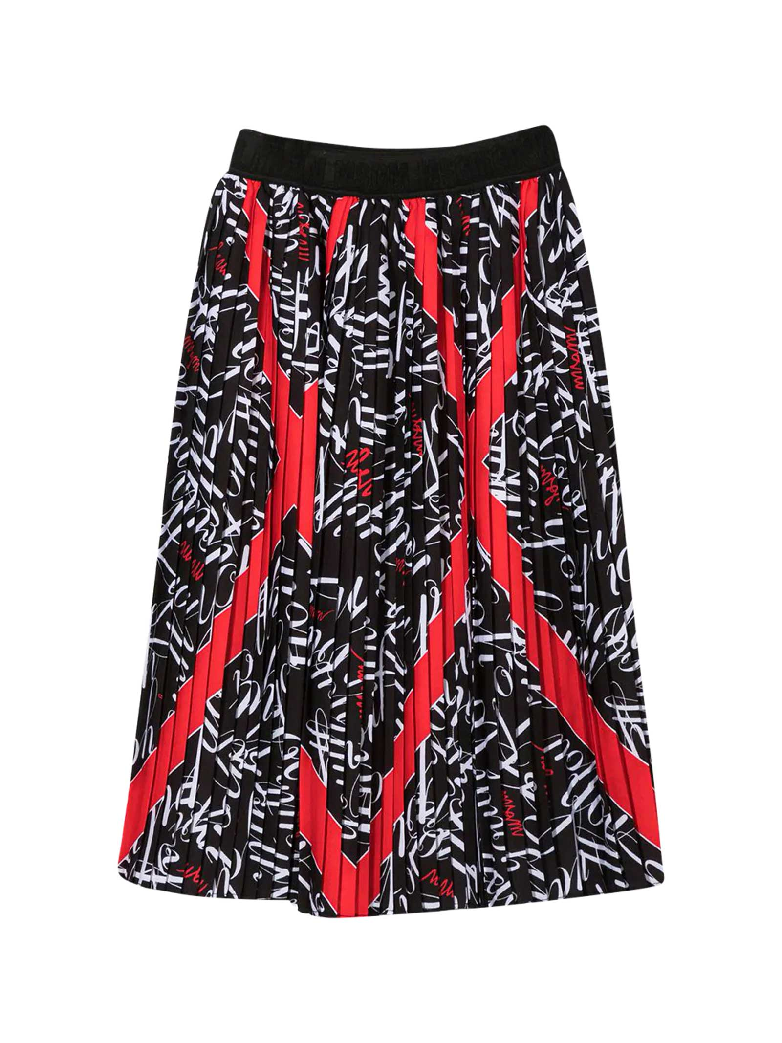 Msgm Tops BLACK PLEATED SKIRT