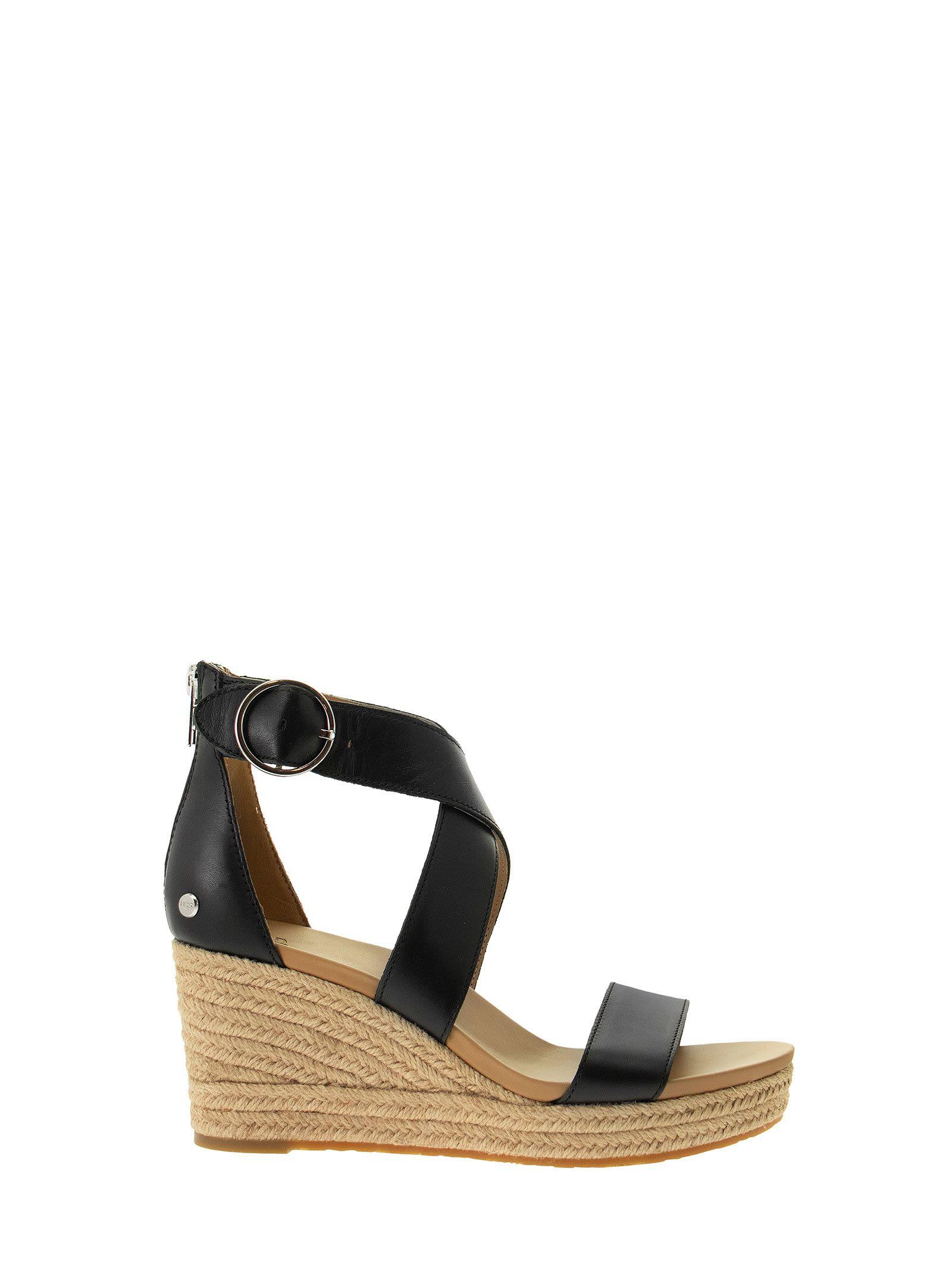 UGG Hylda - Leather Sandal With Wedge