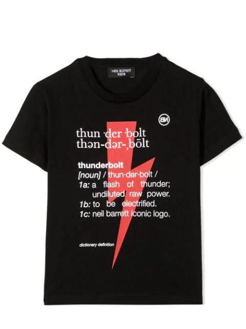 Neil Barrett Kids' Print T-shirt In Black