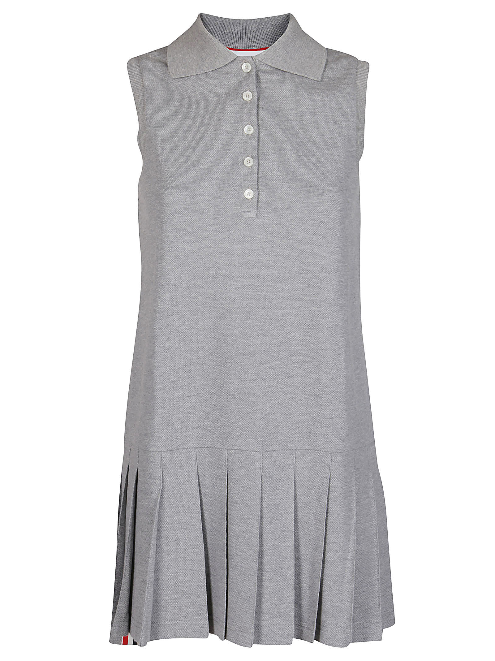 Buy Thom Browne Pleated Polo Dress online, shop Thom Browne with free shipping