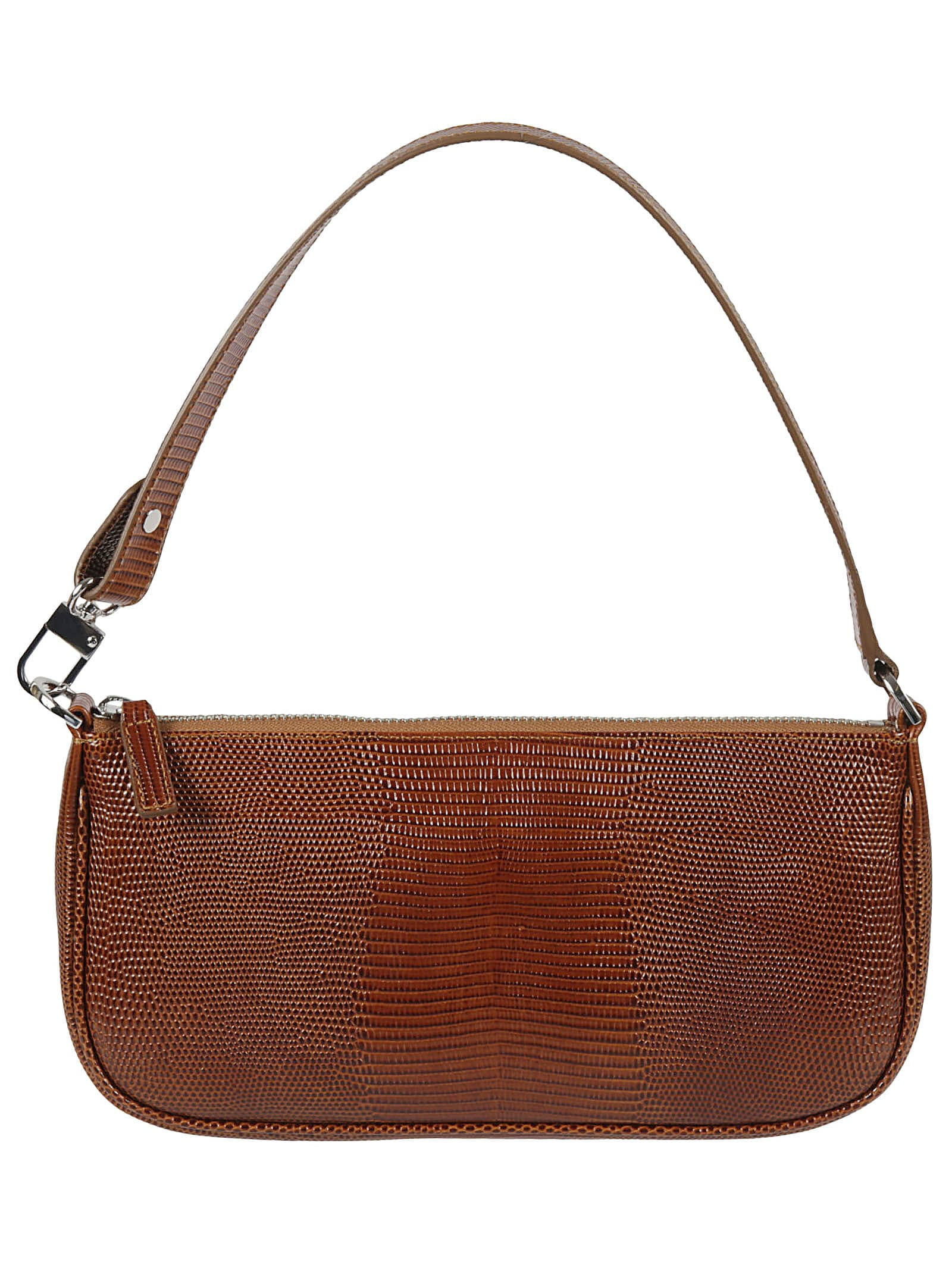 By Far RACHEL LIZARD EMBOSSED SHOULDER BAG