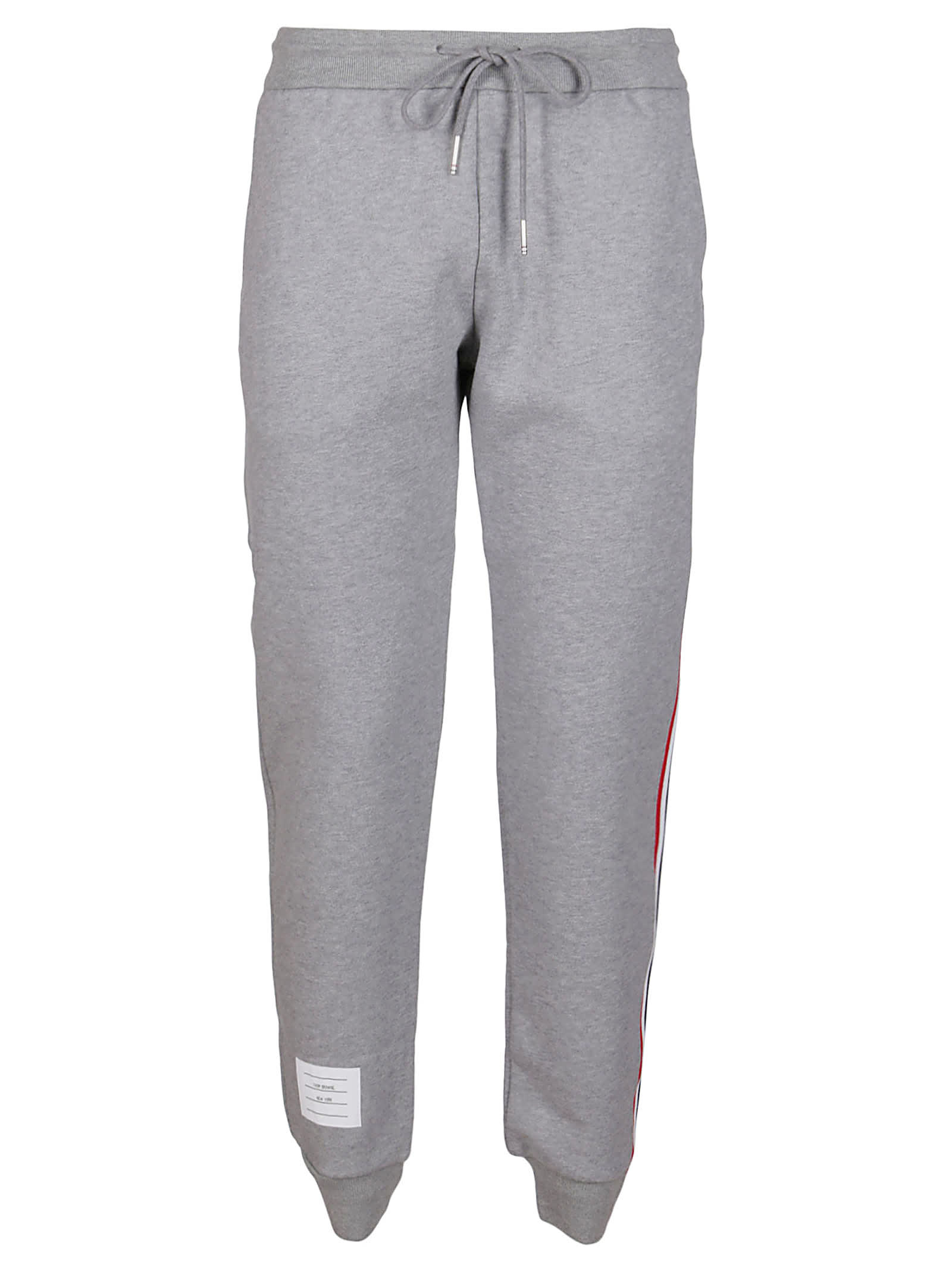 Thom Browne LIGHT GREY COTTON TRACK PANTS