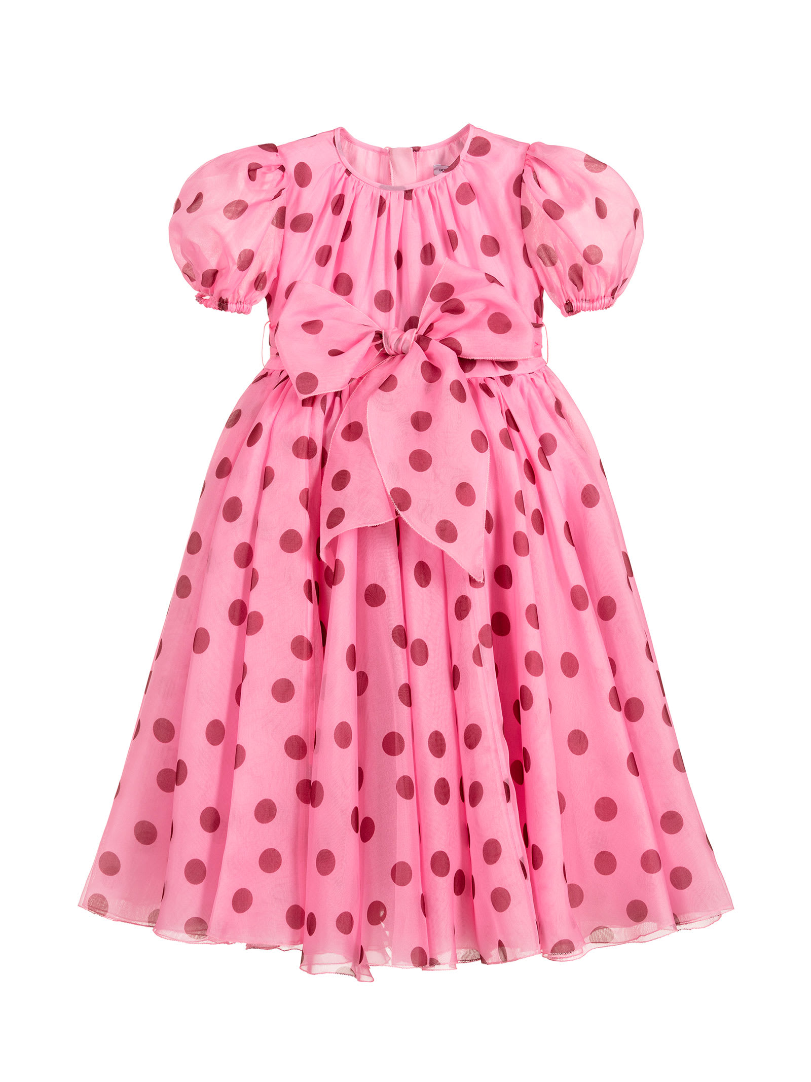 Buy Dolce & Gabbana Pink Dress With Red Pois Dolce & gabbana Kids online, shop Dolce & Gabbana with free shipping