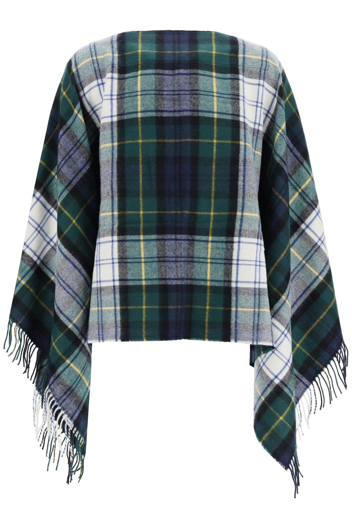 Comme Des Garçons Shirt Scarves TARTAN PONCHO SCARF