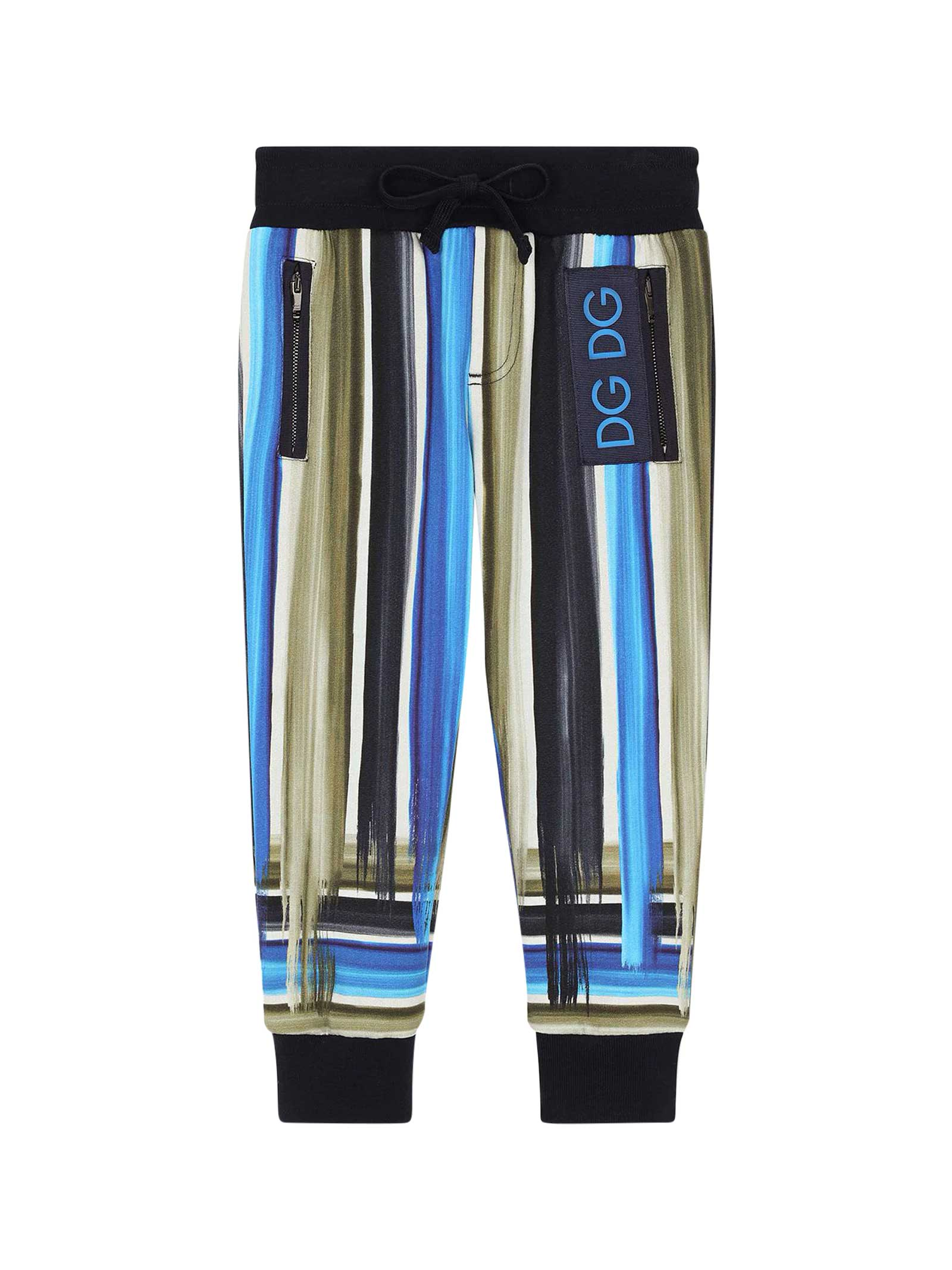 Dolce & Gabbana Cottons STRIPED JOGGERS