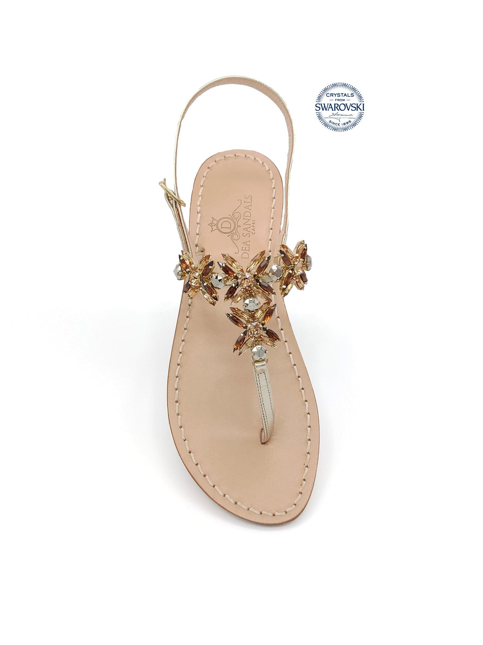 Bagni Di Tiberio Jewel Thong Sandals