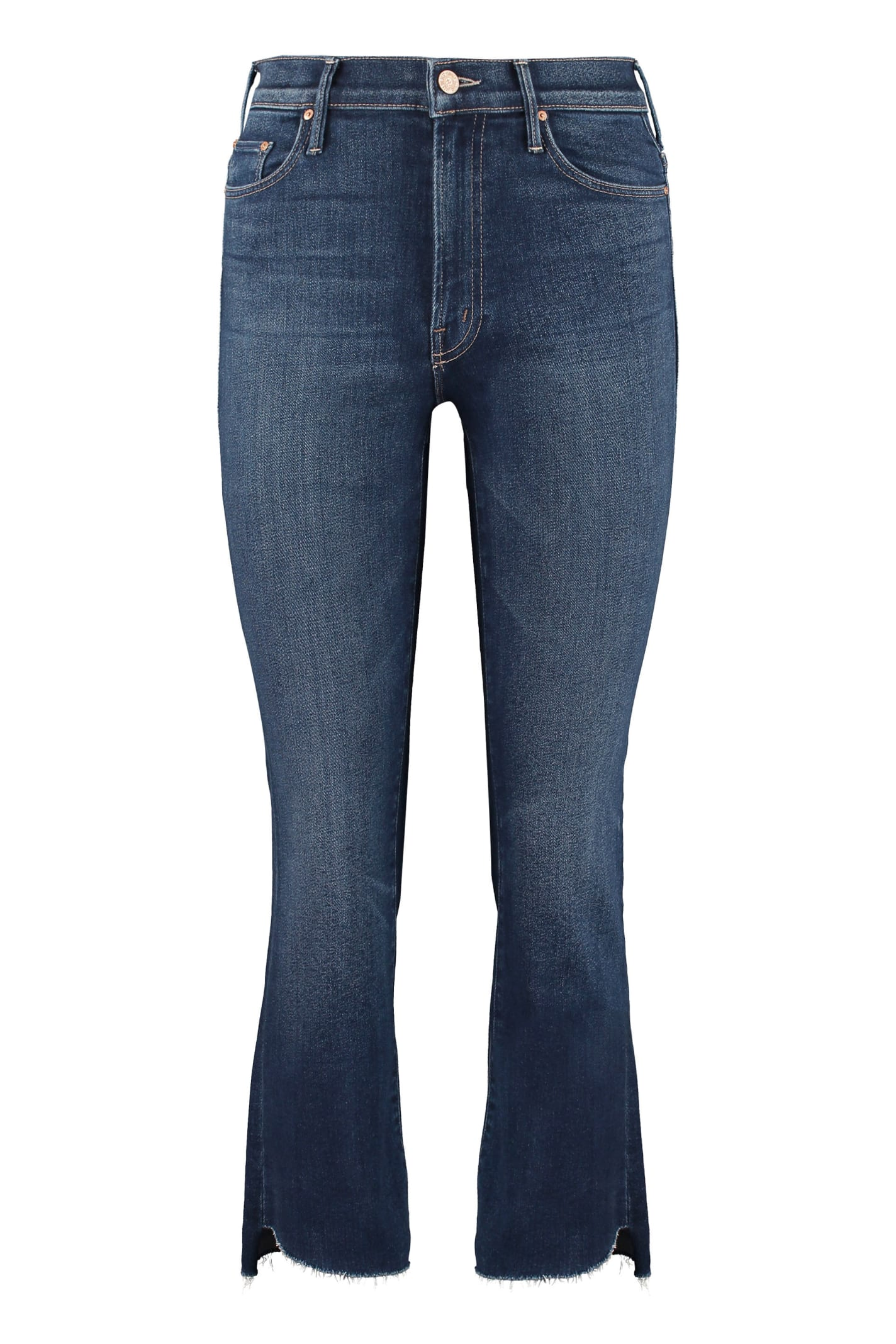 Mother Cottons INSIDER CROP STEP FRAY 5-POCKET JEANS