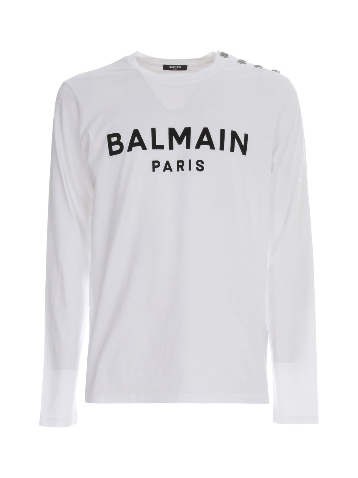 Balmain Flock Long Sleeves Ts W/buttons
