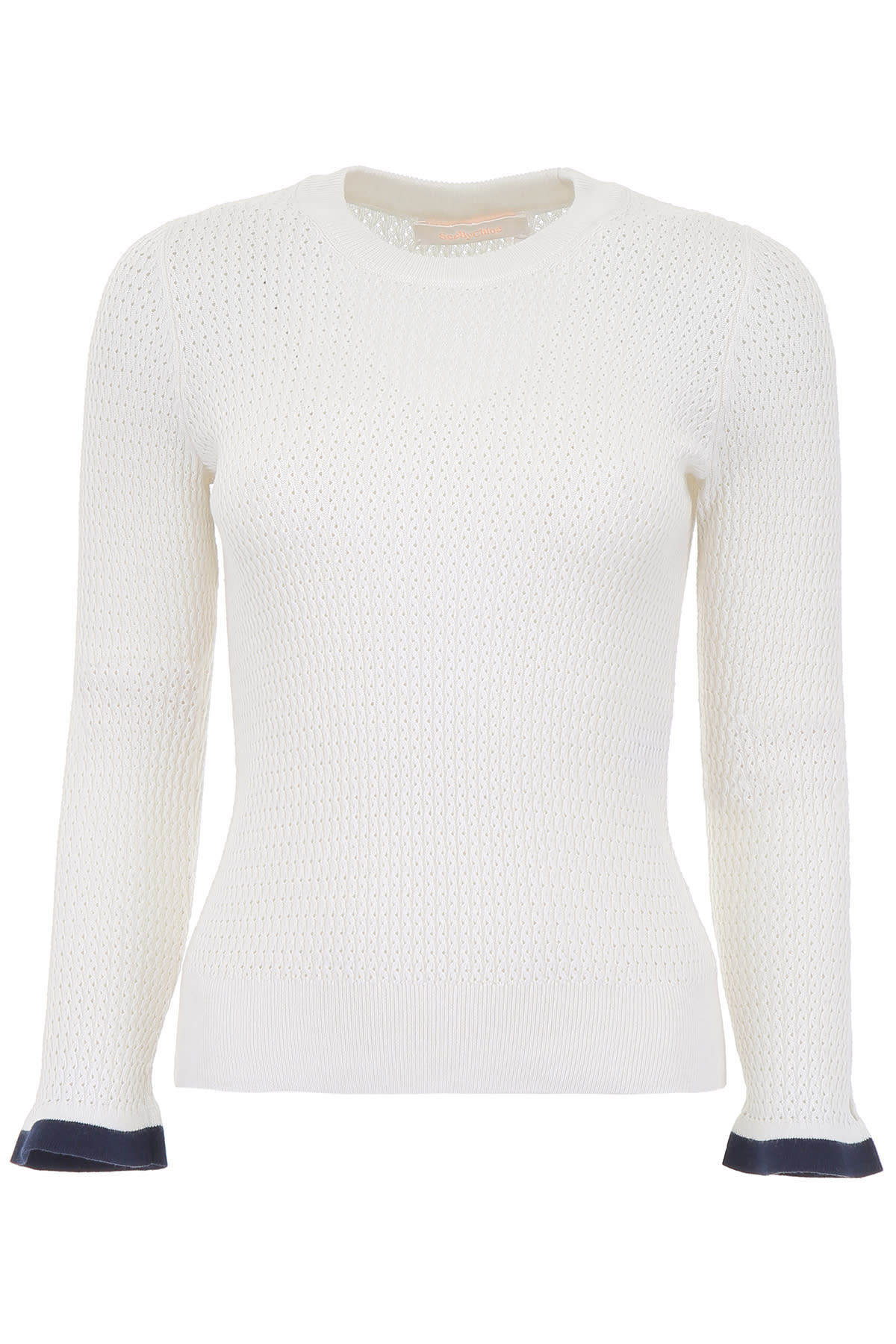 See by Chloé Perforated Knit Top