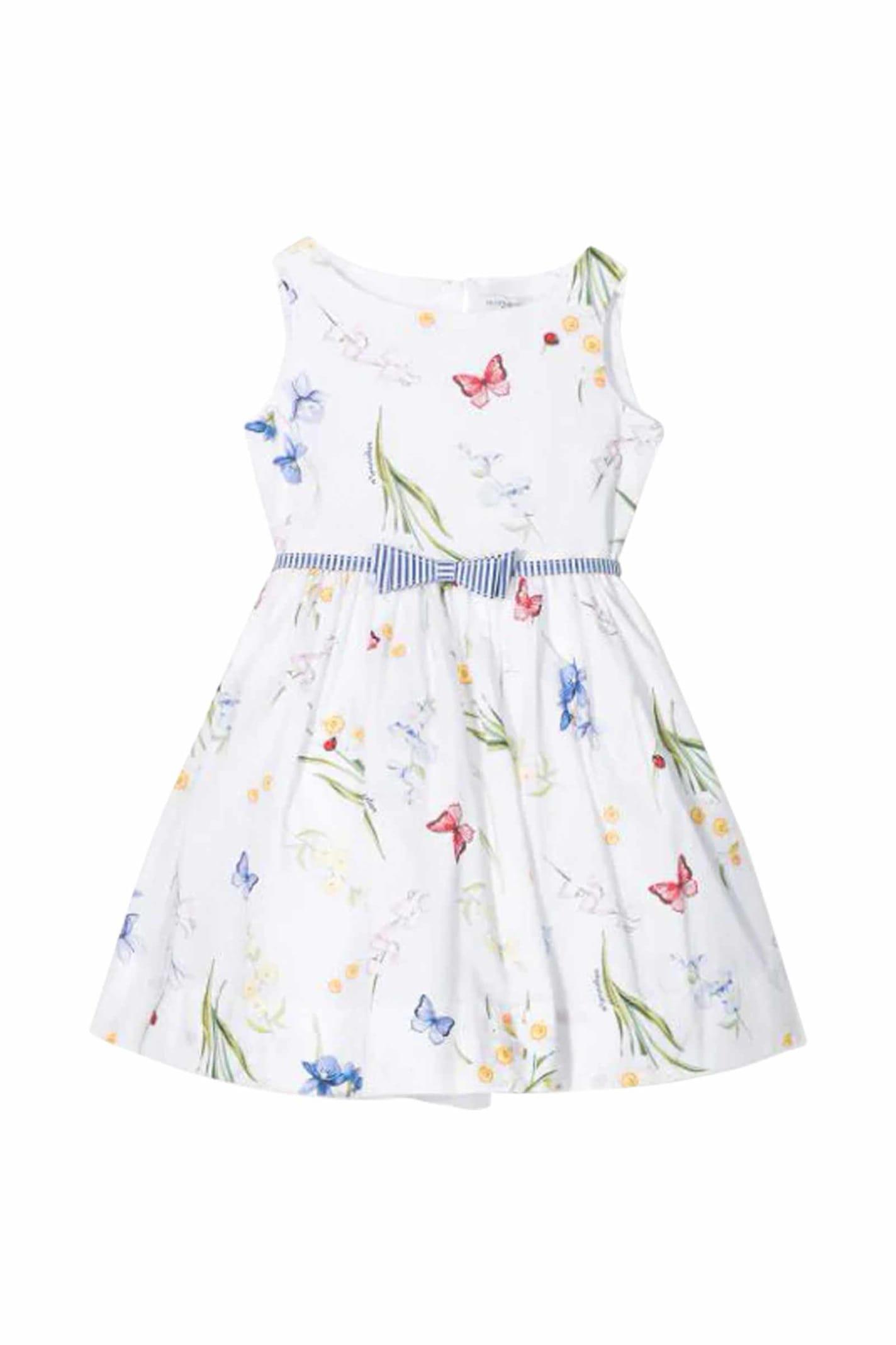 Buy Monnalisa Multi-print Flared Dress online, shop Monnalisa with free shipping