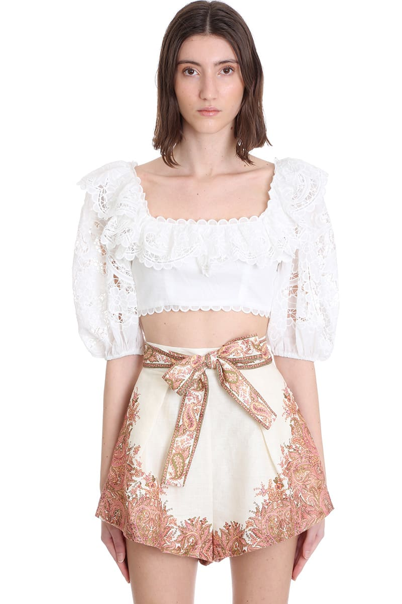 Zimmermann TOPWEAR IN WHITE COTTON