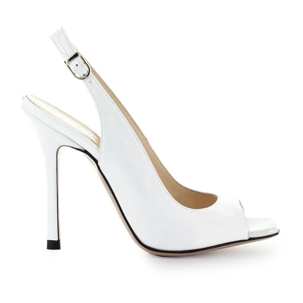 White Leather Sandal
