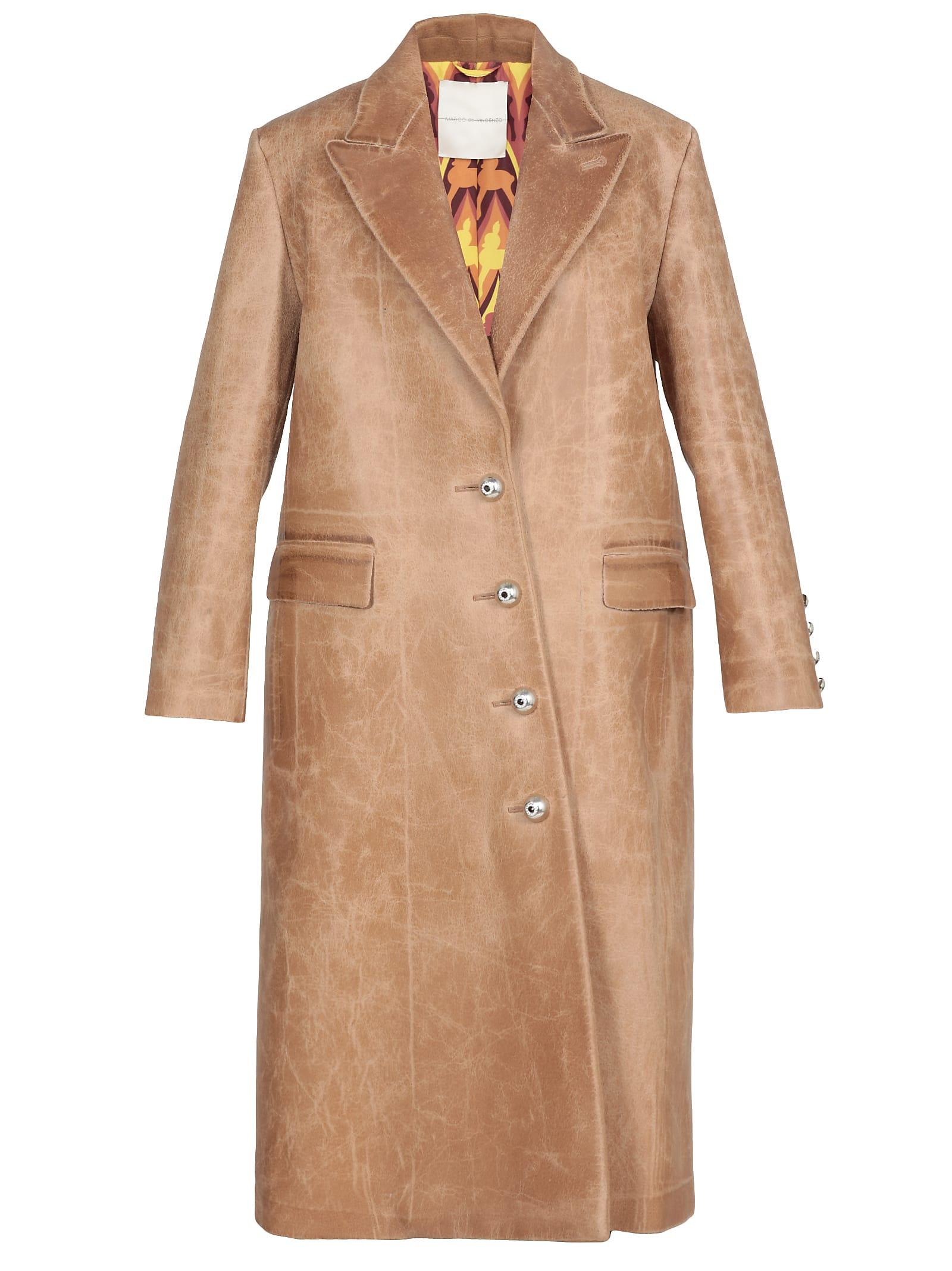 Marco de Vincenzo Leather Coat