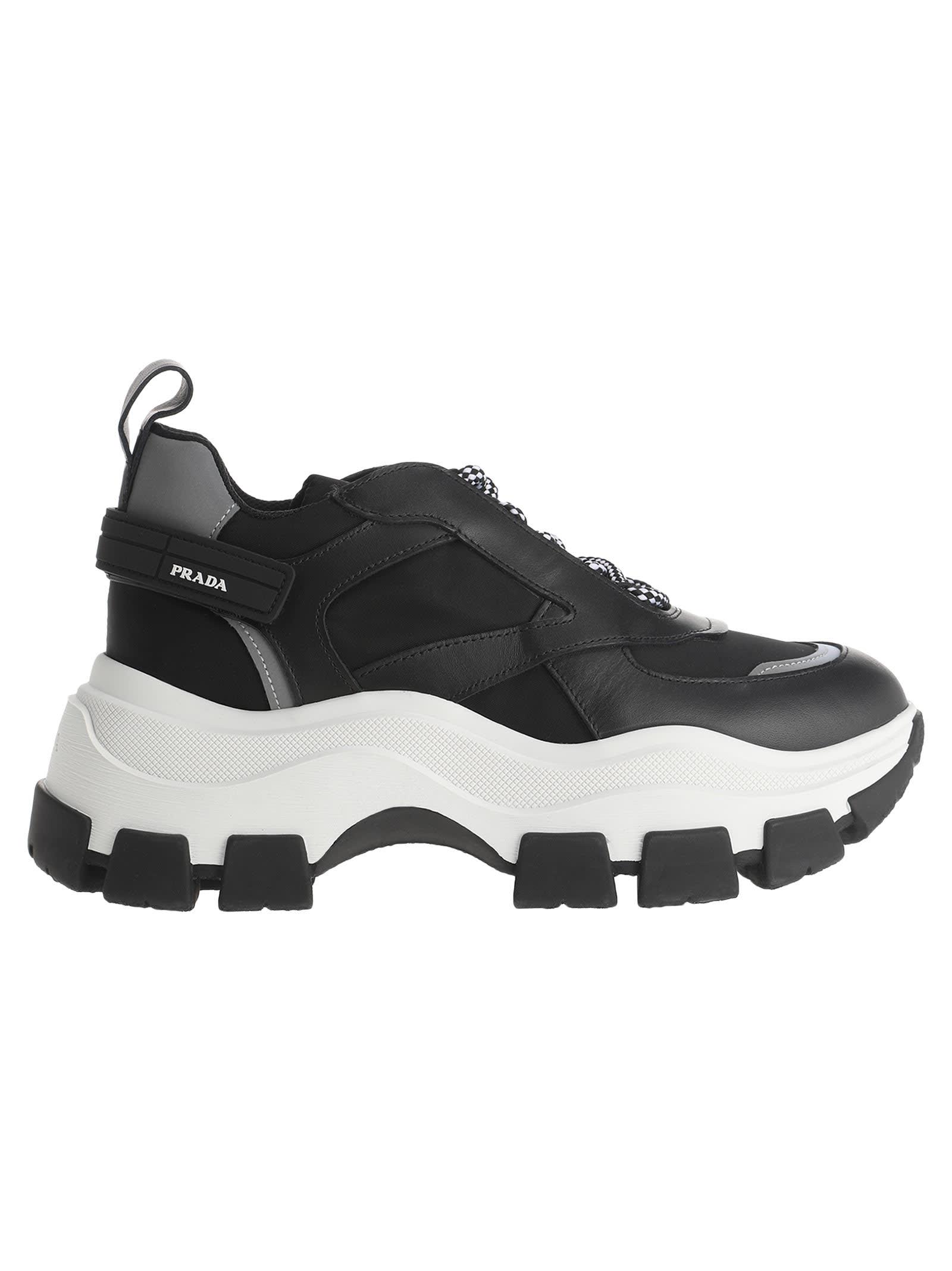 ae69a42cb Prada Prada Chunky Sole Sneakers - BLACK - 10994260   italist