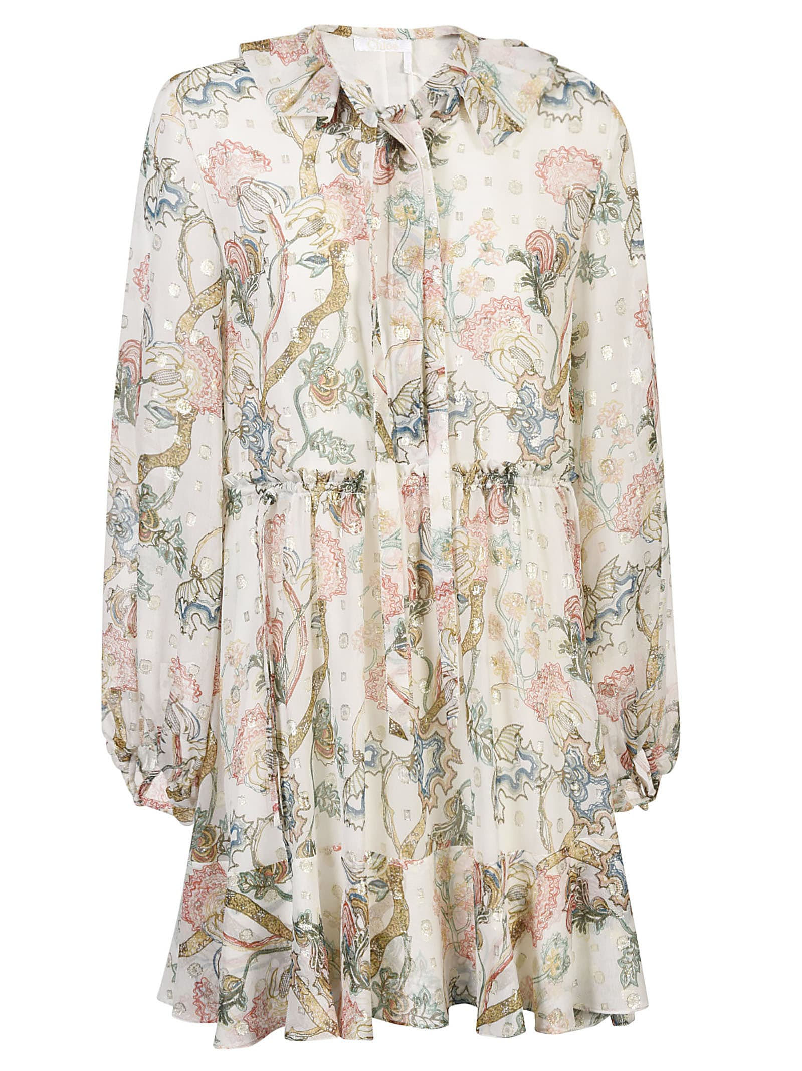 Buy Chlo © All-over Print Dress online, shop Chloé with free shipping
