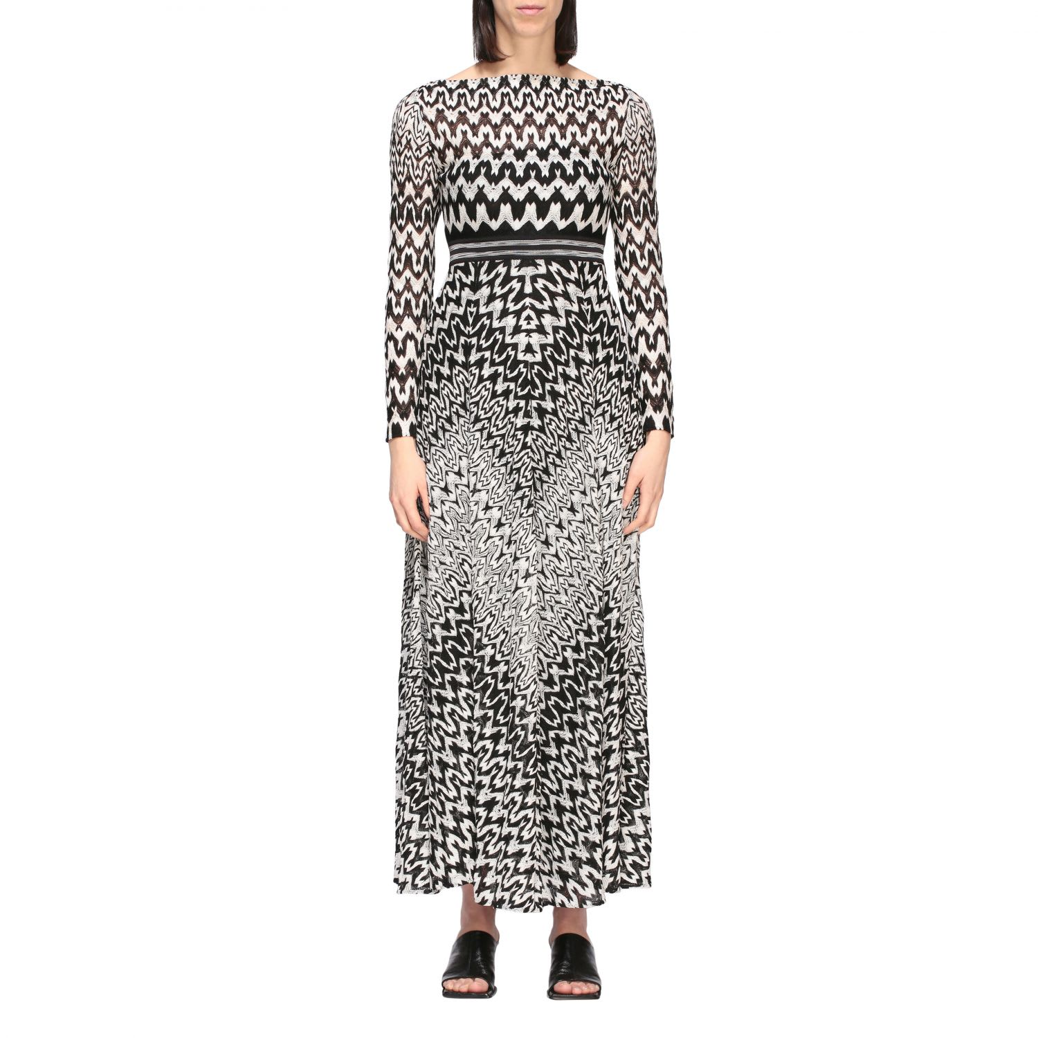 Buy Missoni Dress Long Missoni Dress With Optical Pattern online, shop Missoni with free shipping