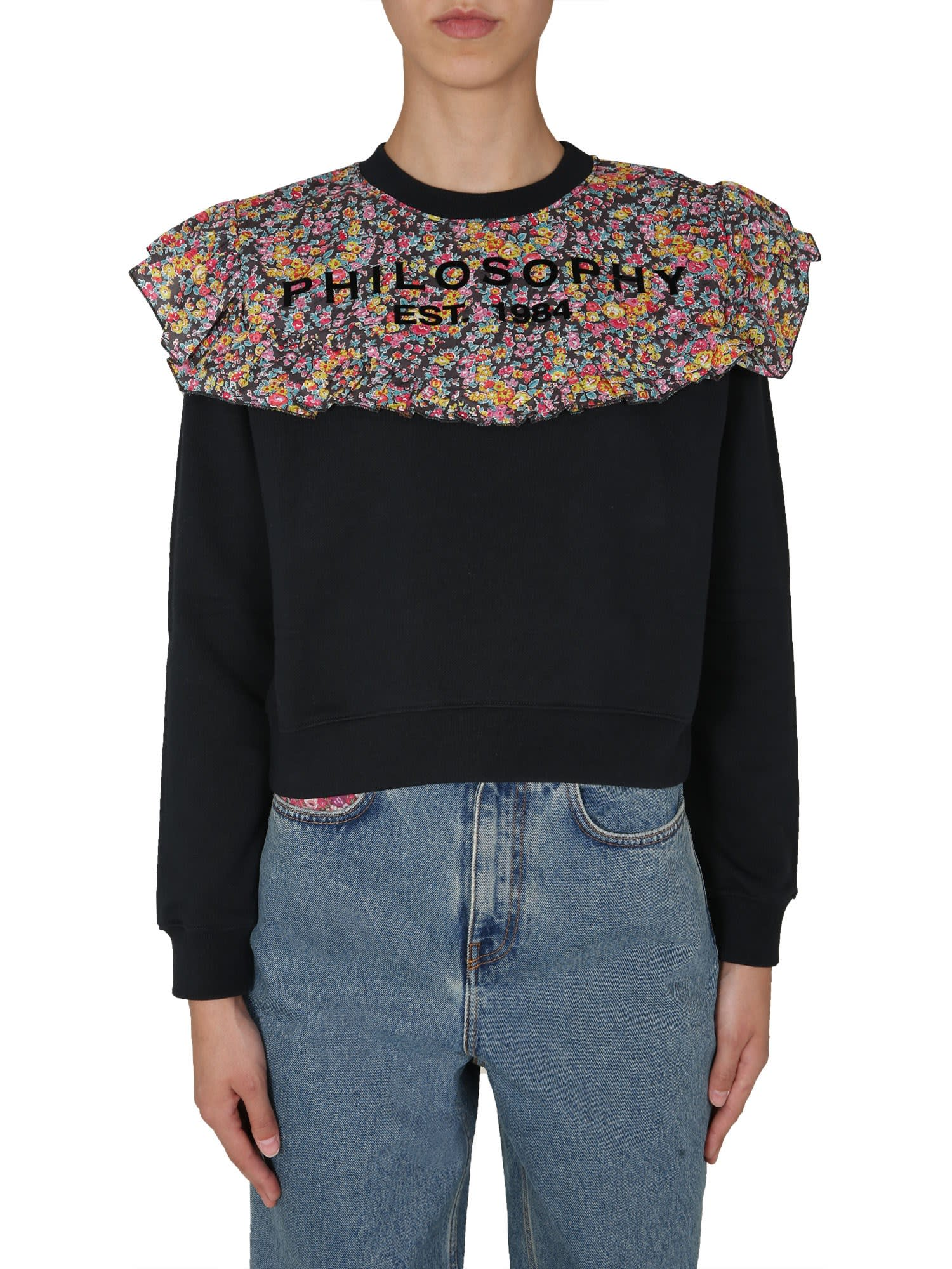 Philosophy di Lorenzo Serafini Cropped Sweatshirt