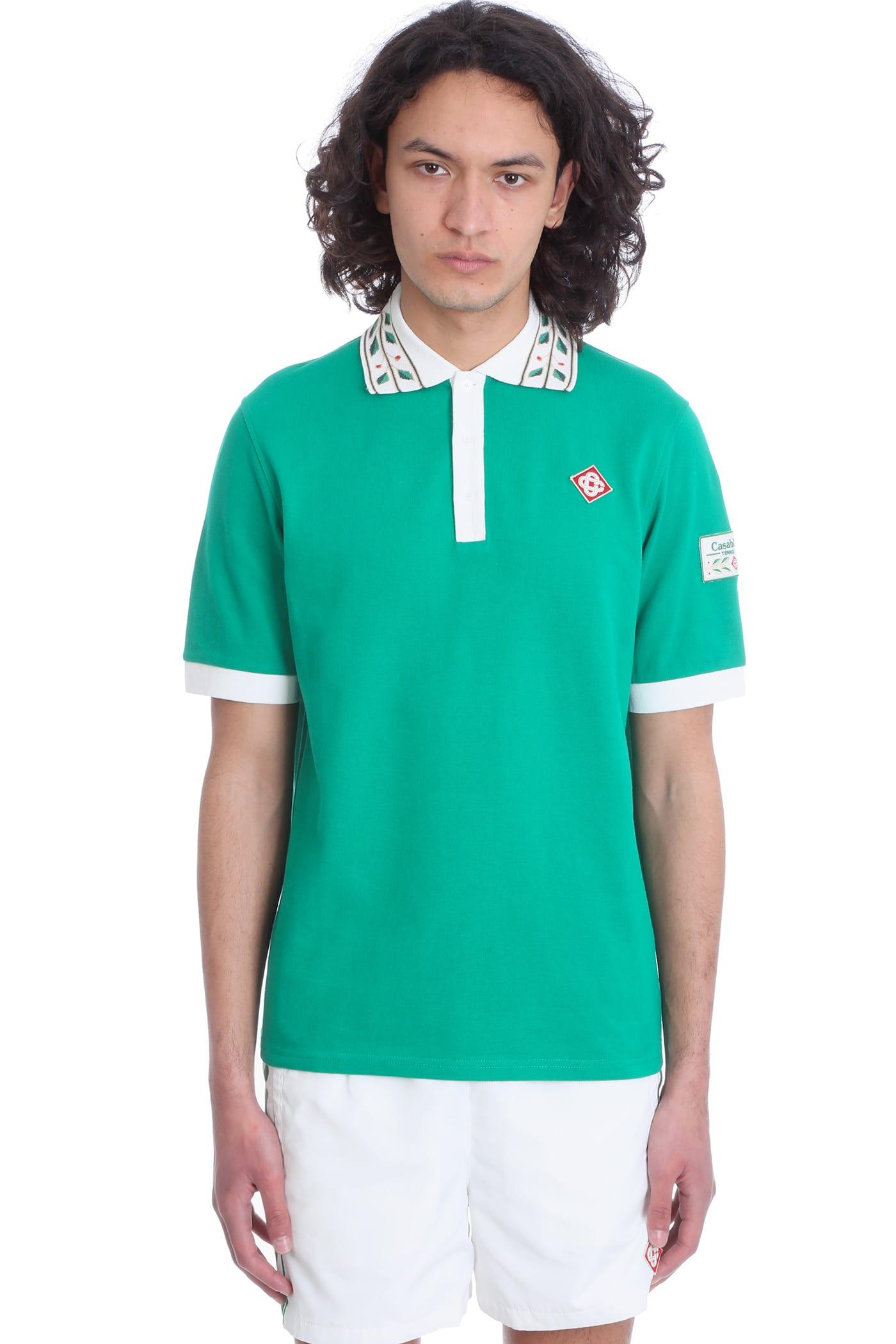 Casablanca Shirts POLO IN GREEN COTTON