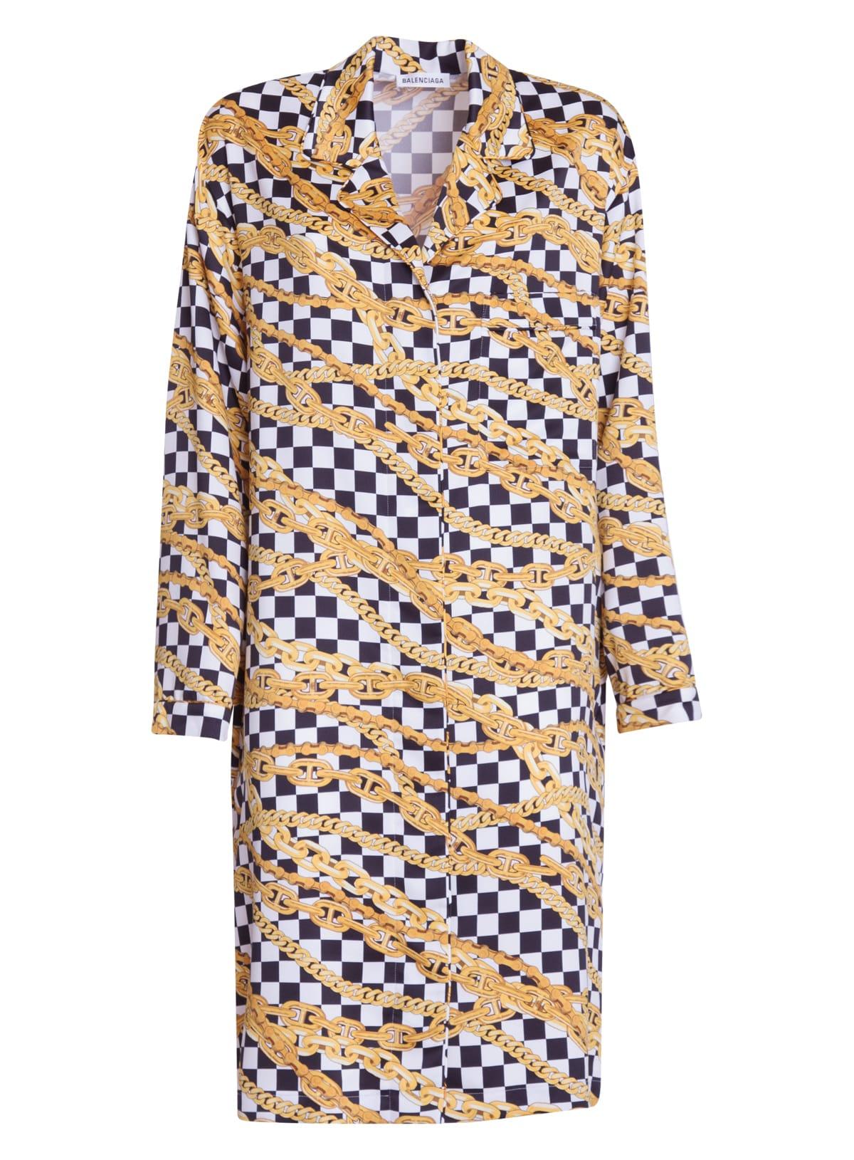 Buy Balenciaga Pajama Dress online, shop Balenciaga with free shipping