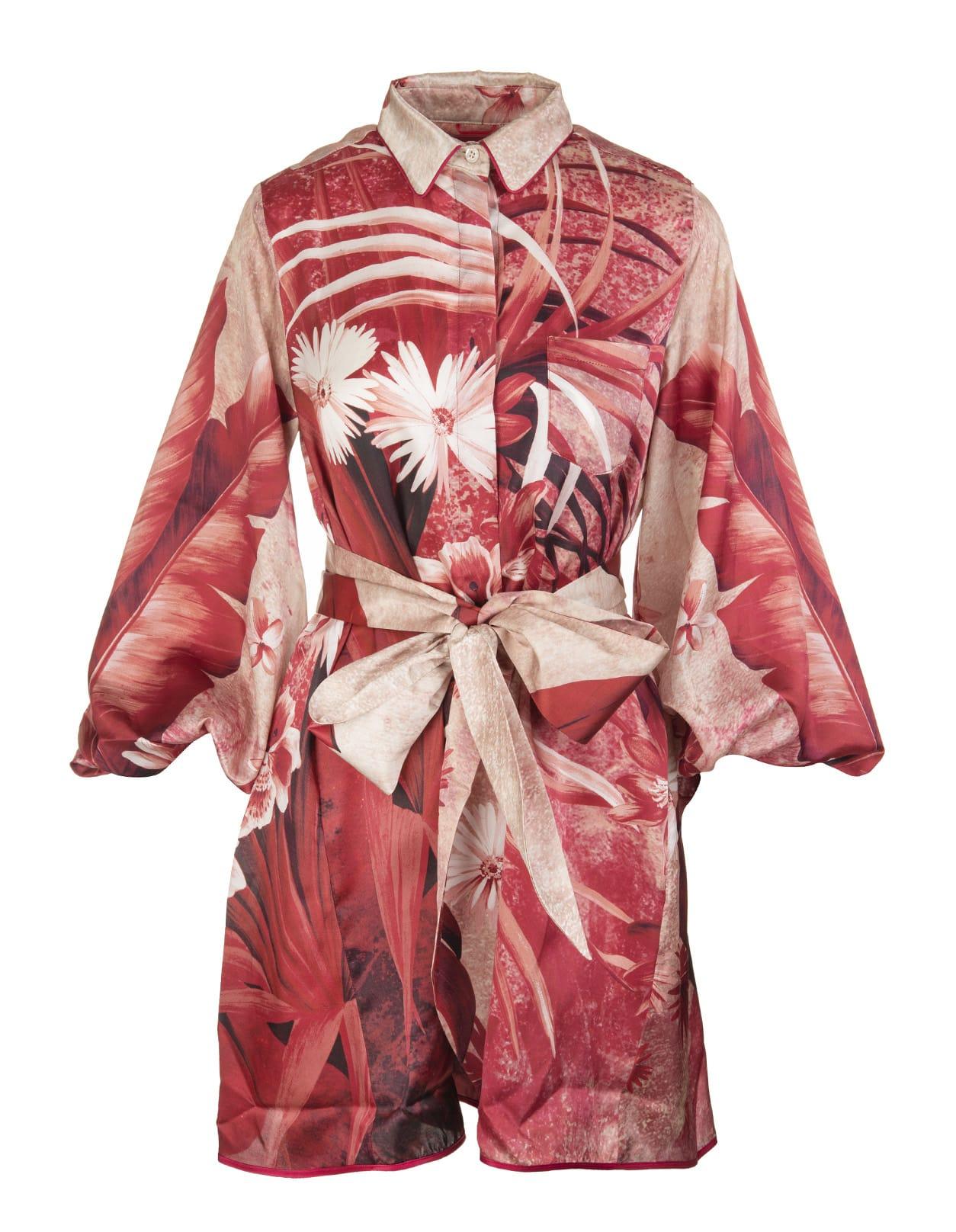 Red Archidemia Short Dress