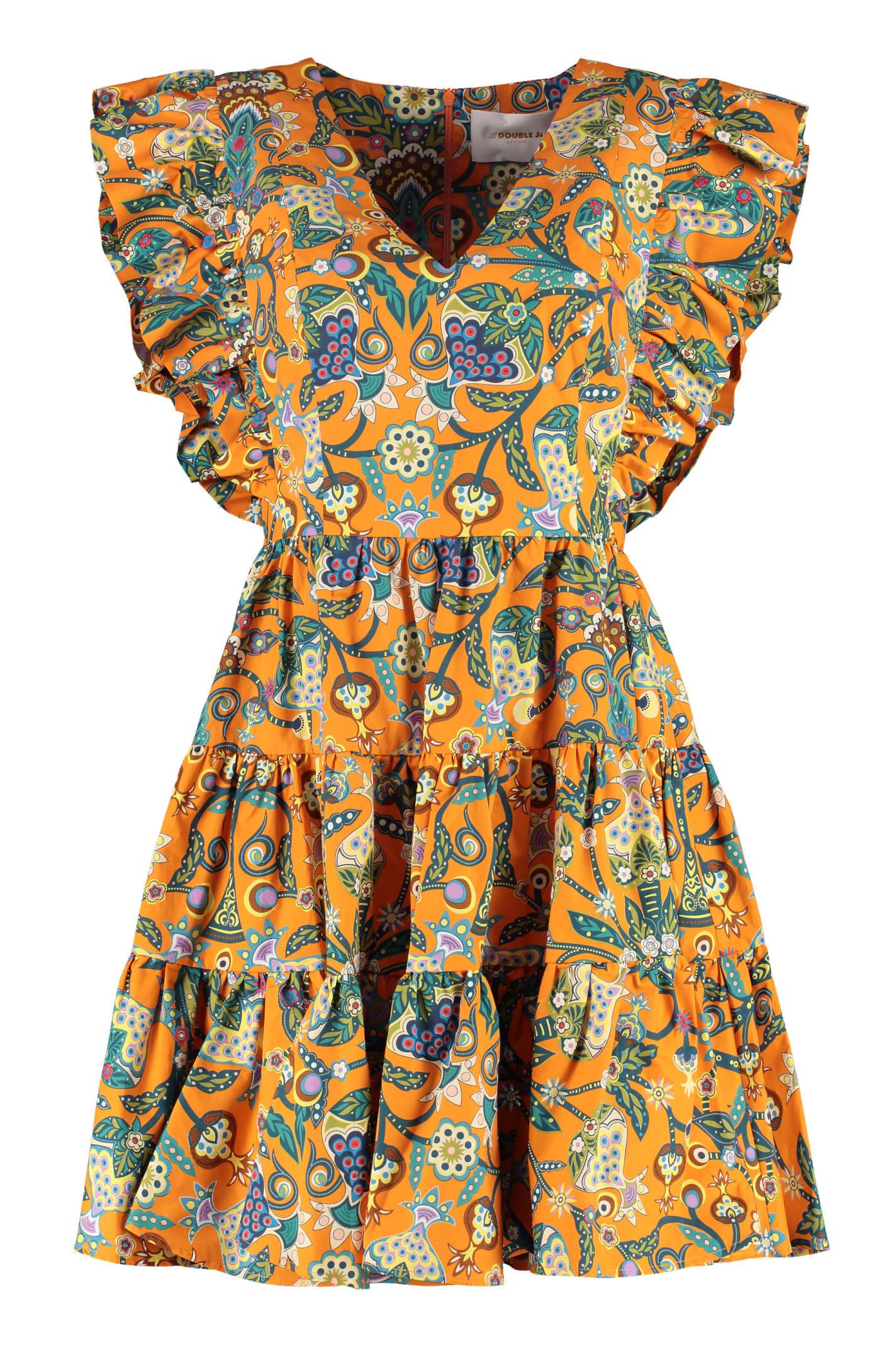 La Doublej Cottons HONEYBUN RUFFLED HEM DRESS