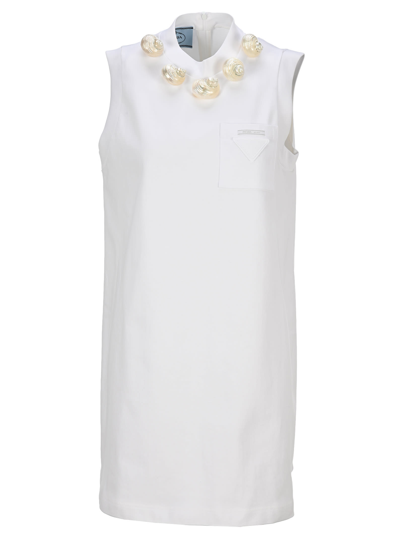 Buy Prada Seashell Appliqué Shift Dress online, shop Prada with free shipping
