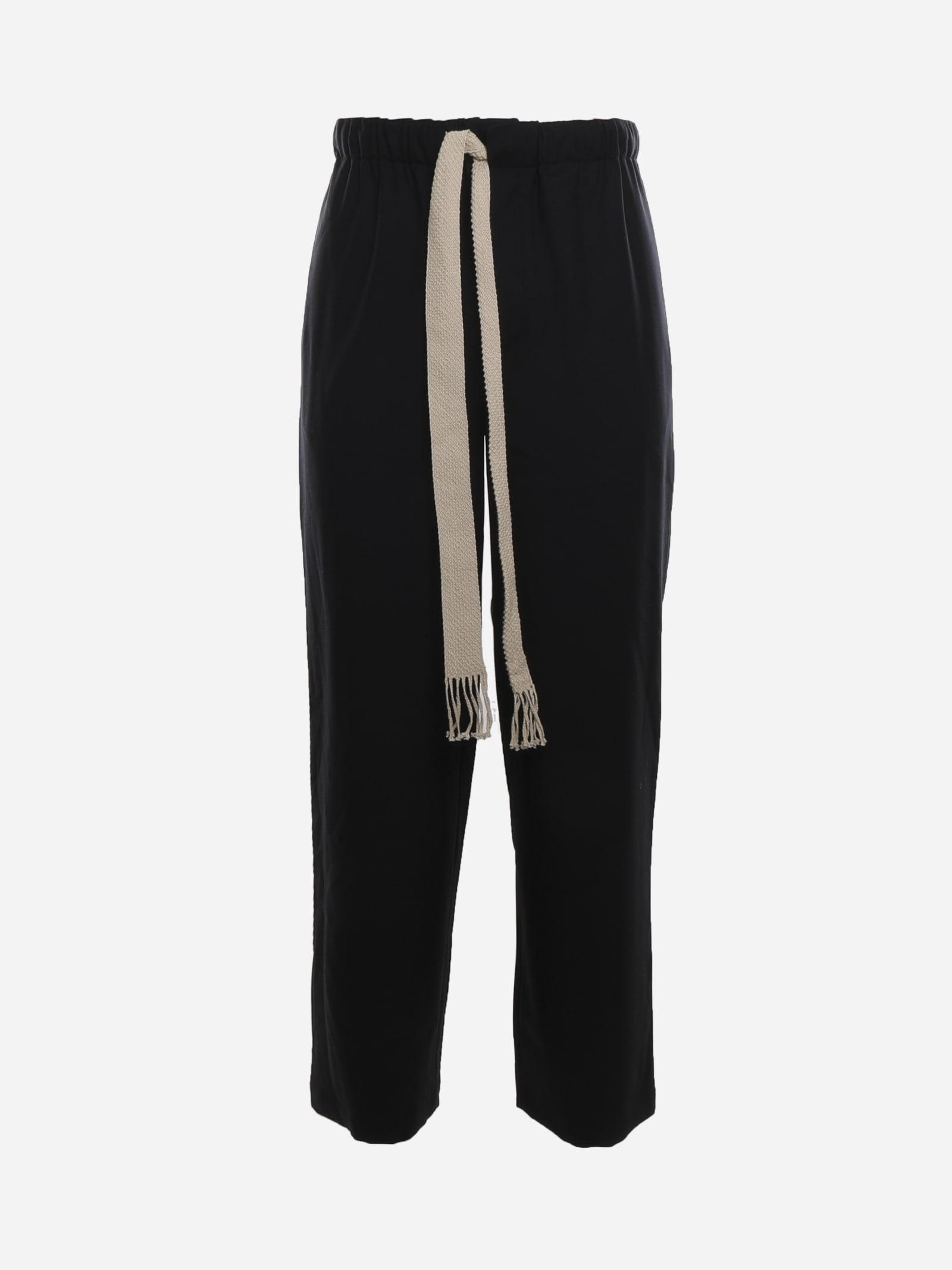 Loewe WOOL TWILL TROUSERS WITH EMBROIDERED ANAGRAM