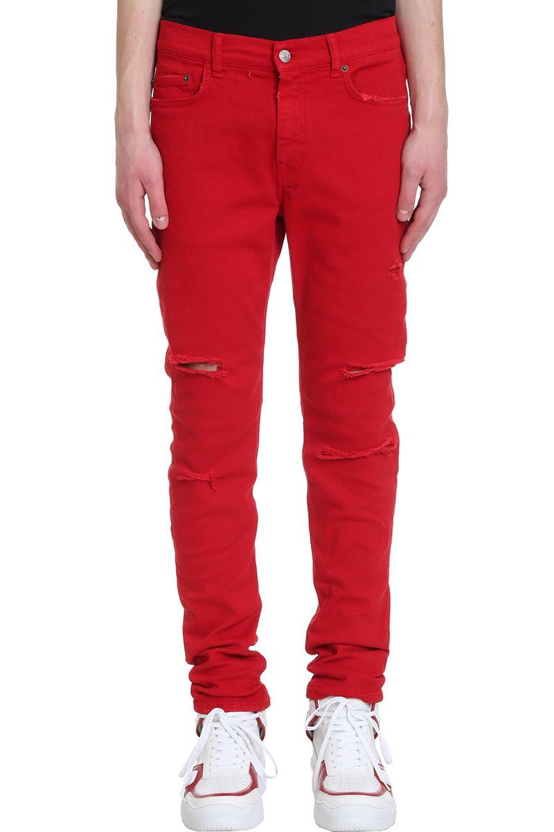 Buscemi Jeans In Red Denim