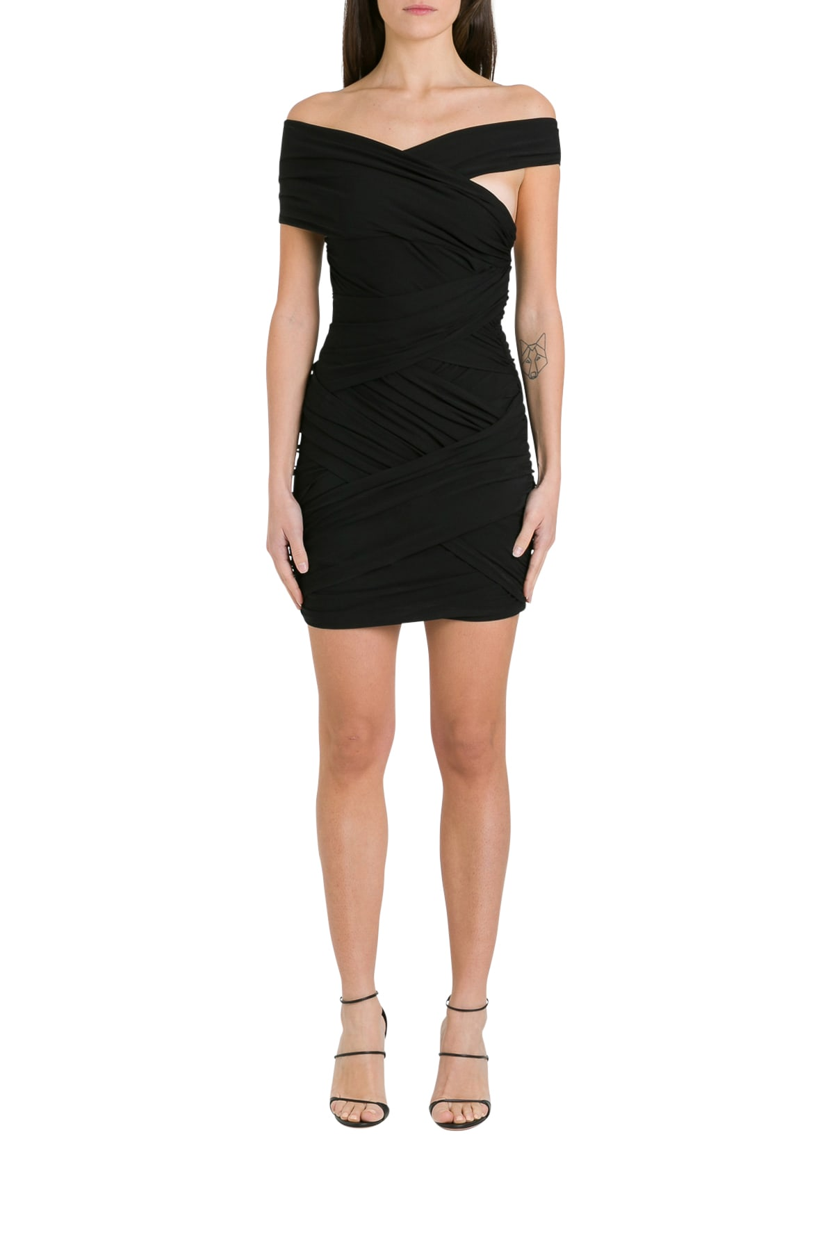 Buy Alexandre Vauthier Off-the-shoulder Ruched Cady Mini Dress online, shop Alexandre Vauthier with free shipping
