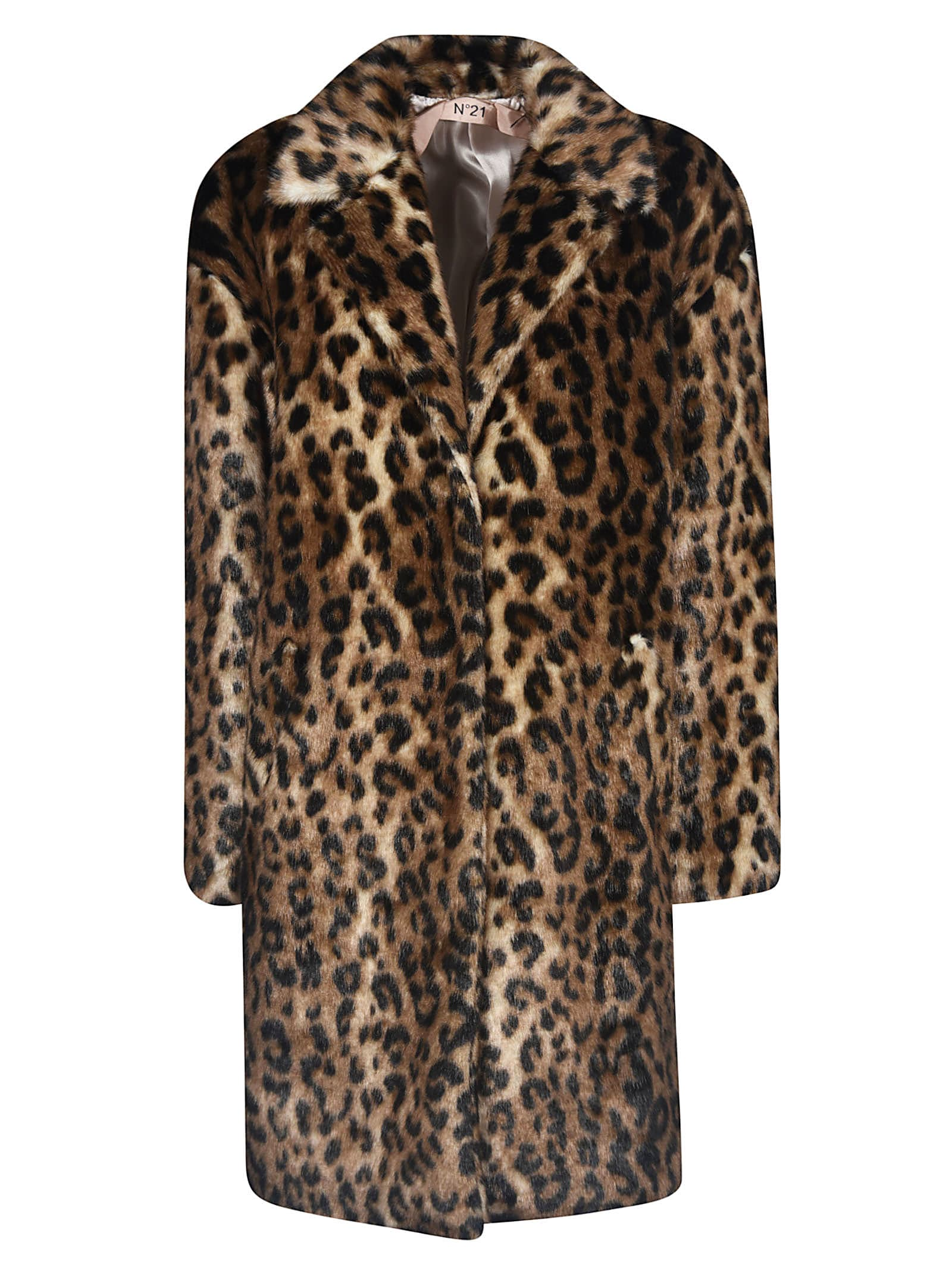 N.21 Leopard Printed Coat