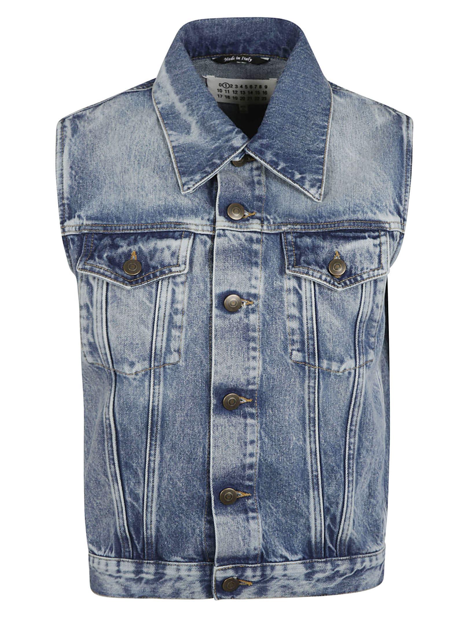 Maison Margiela Stonewashed Sleeveless Denim Jacket