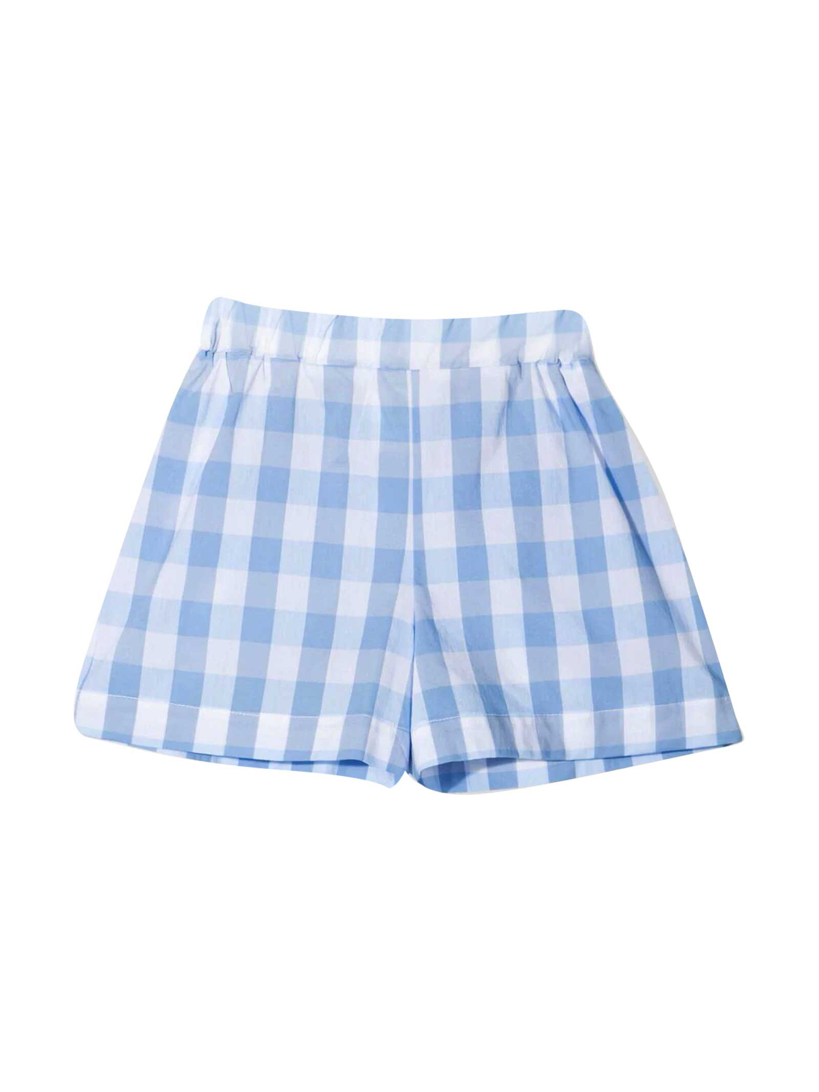 Piccola Ludo Cottons CHECKED SHORTS