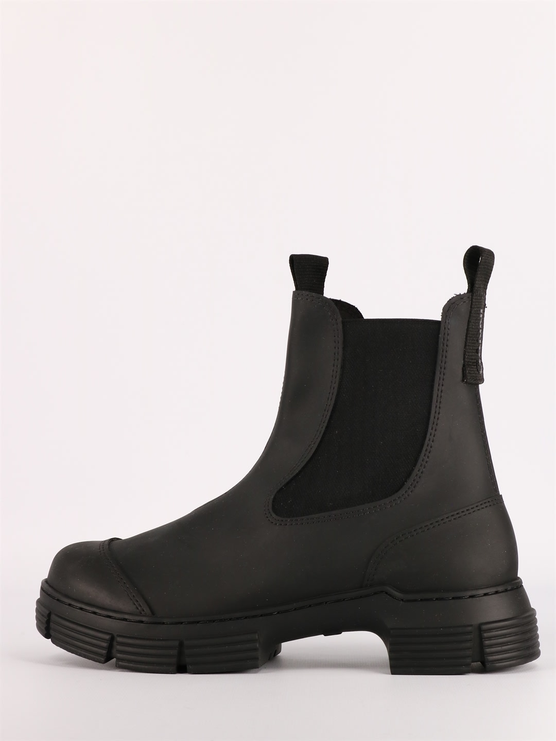 Ganni BLACK RECYCLED RUBBER BOOTS