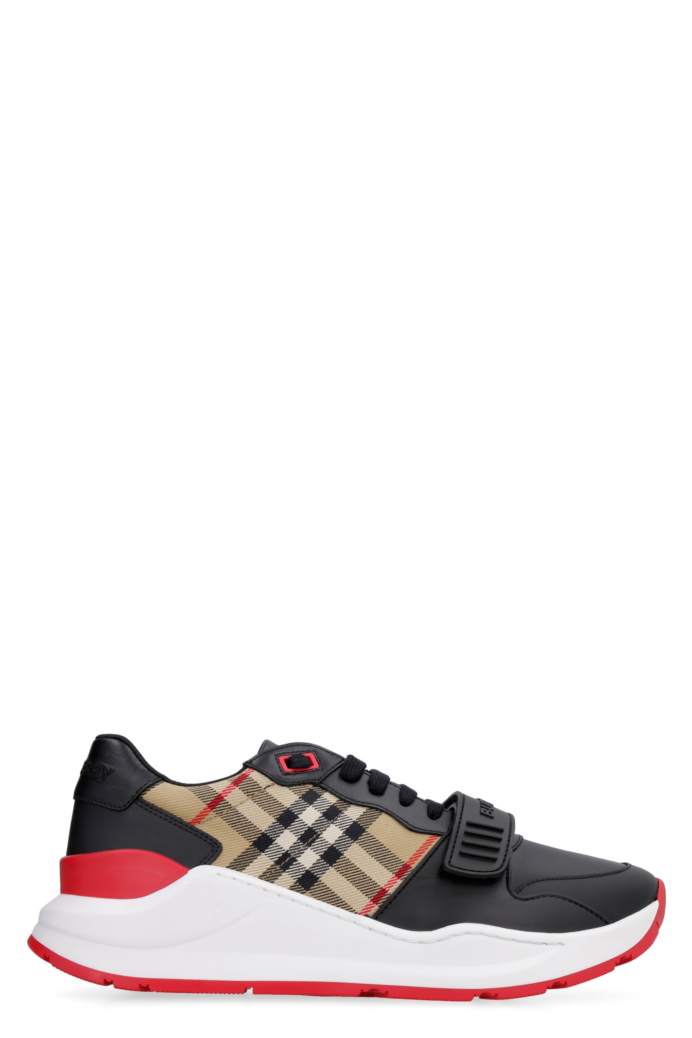 Burberry Vintage-check Print Detail Sneakers