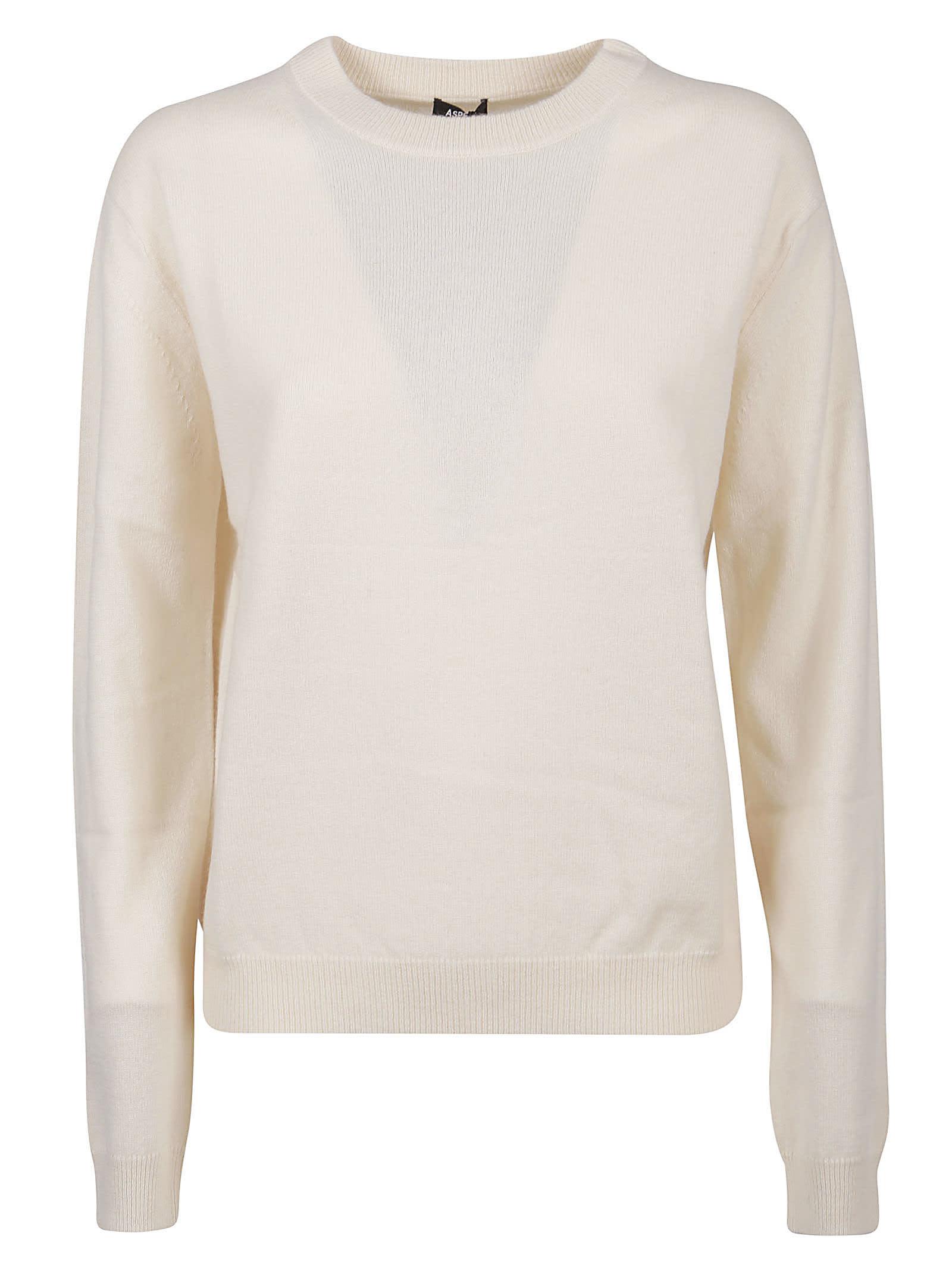 Aspesi Plain Ribbed Sweater