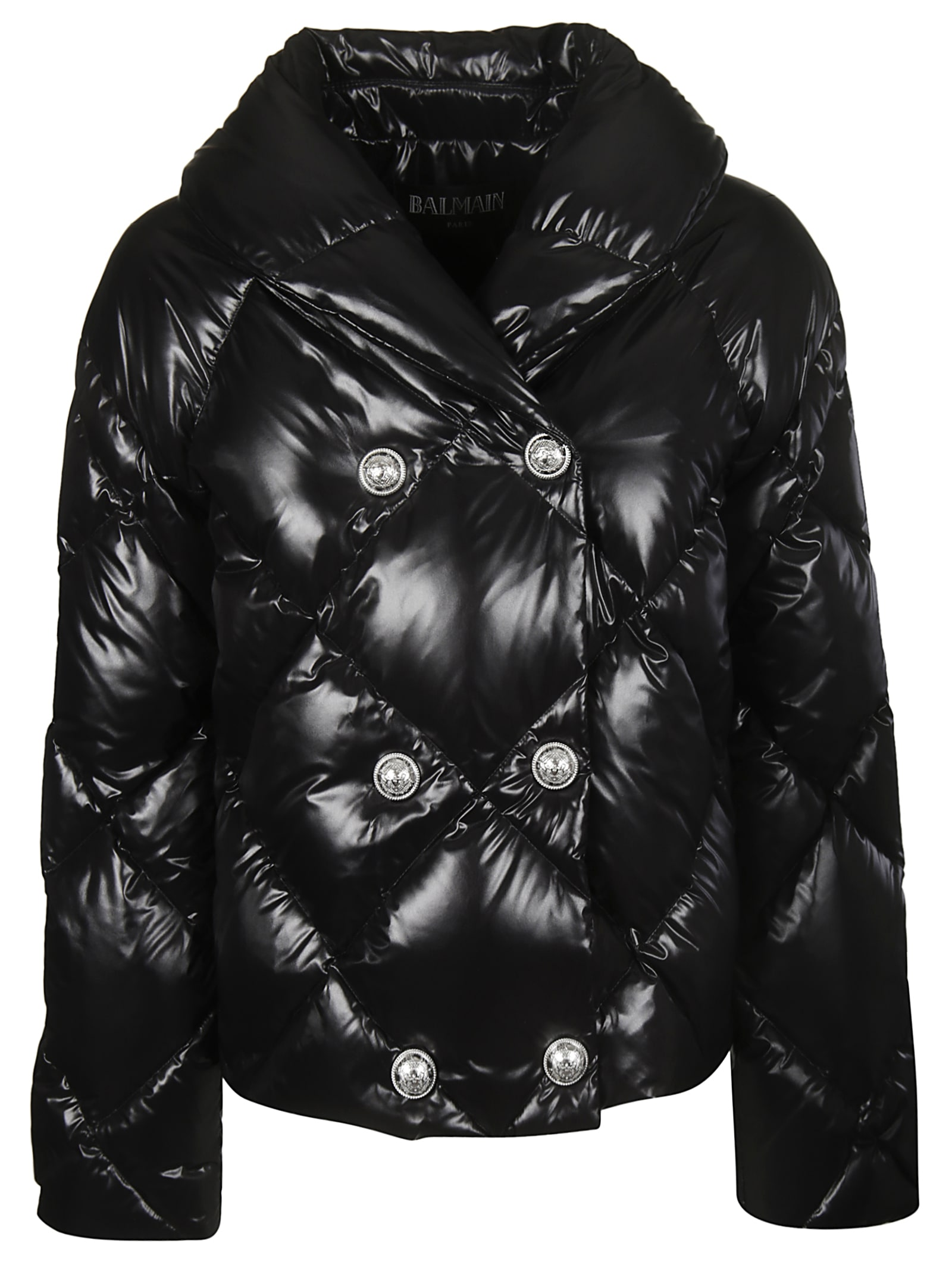 Balmain Button Down Quilted Jacket