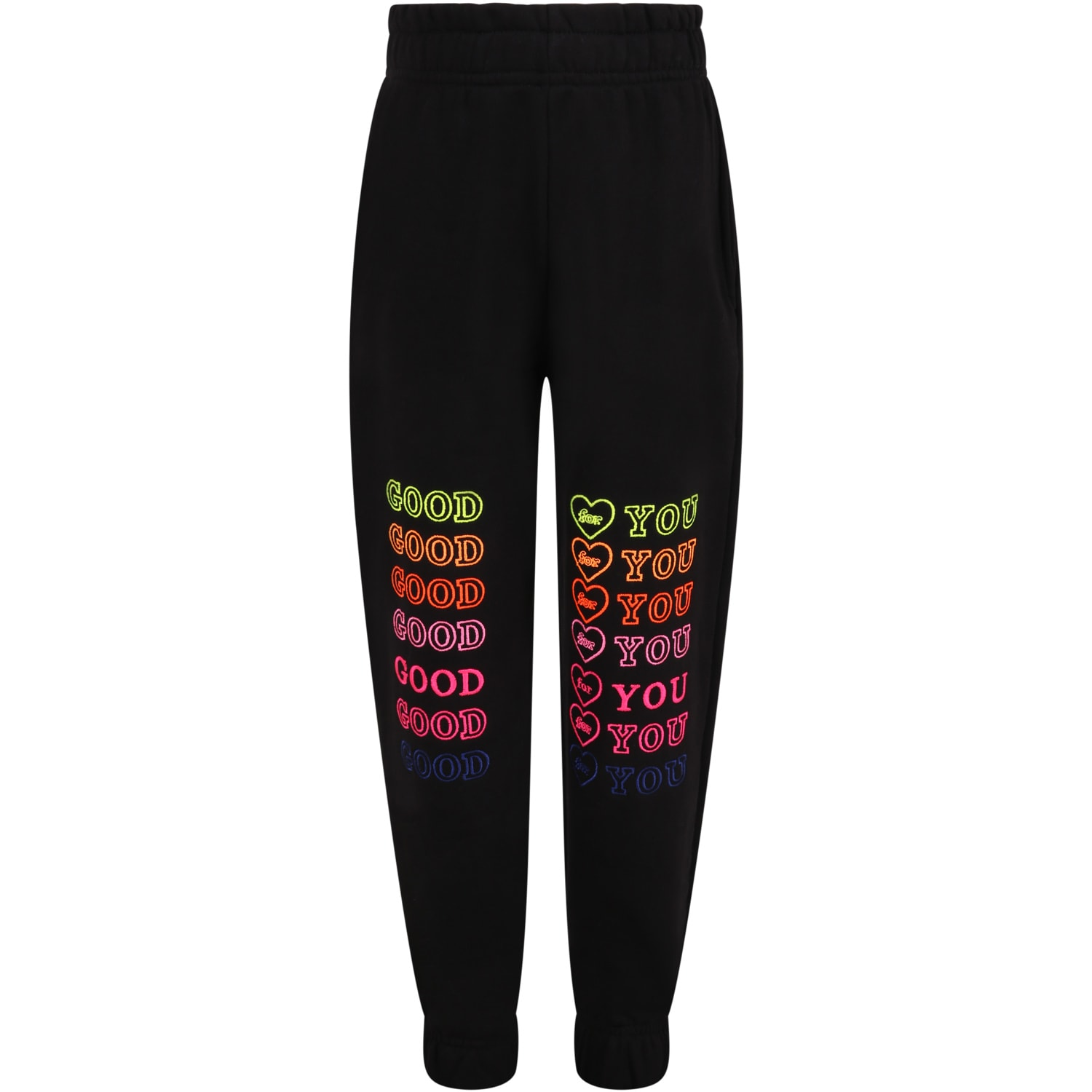 Black Sweatpant For Girl With Writings