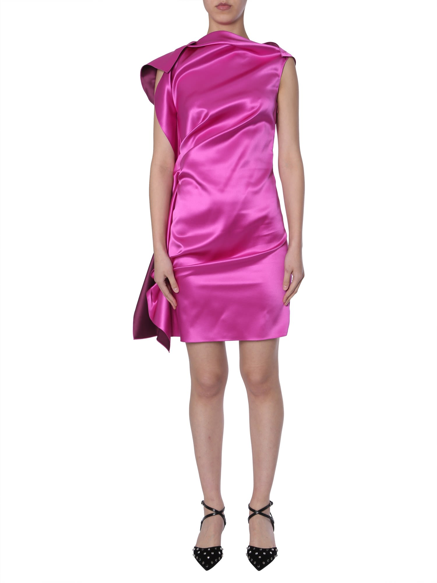 Buy Lanvin Silk Dress online, shop Lanvin with free shipping