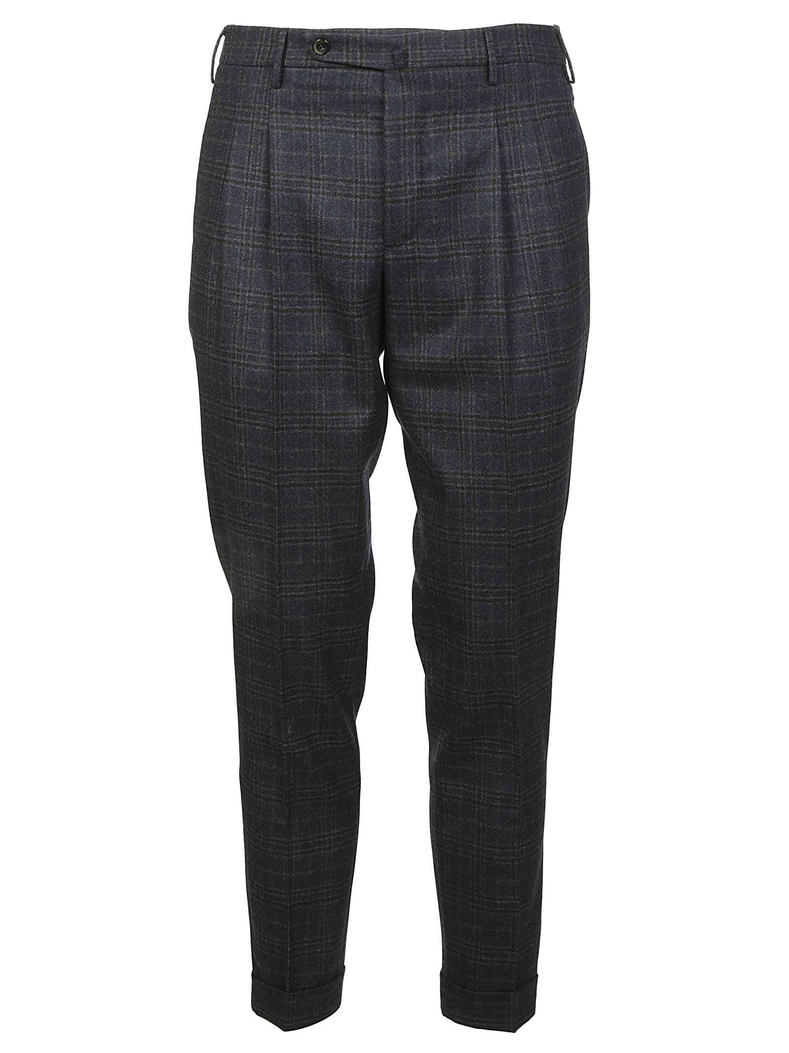 Pt01 Checked Cropped Trousers
