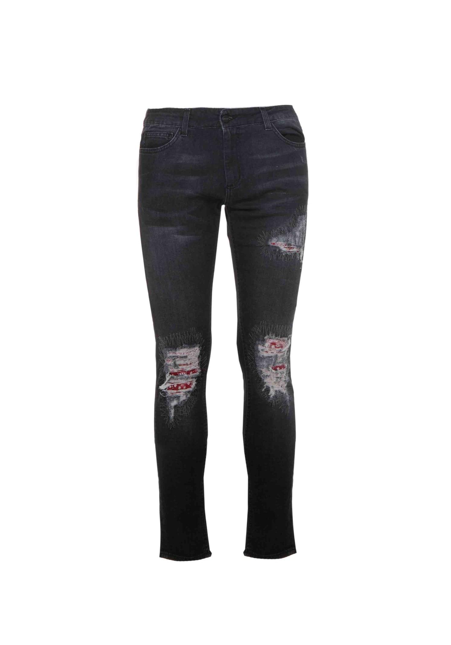 Jeans Denim Patch Bandana Black