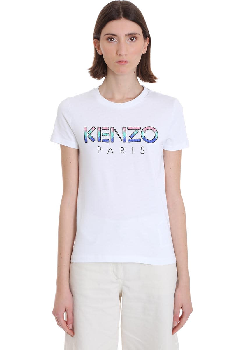 Kenzo T-shirt In White Cotton