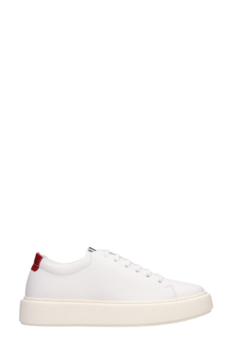 Low Brand Shelby Low Sneakers In White Leather