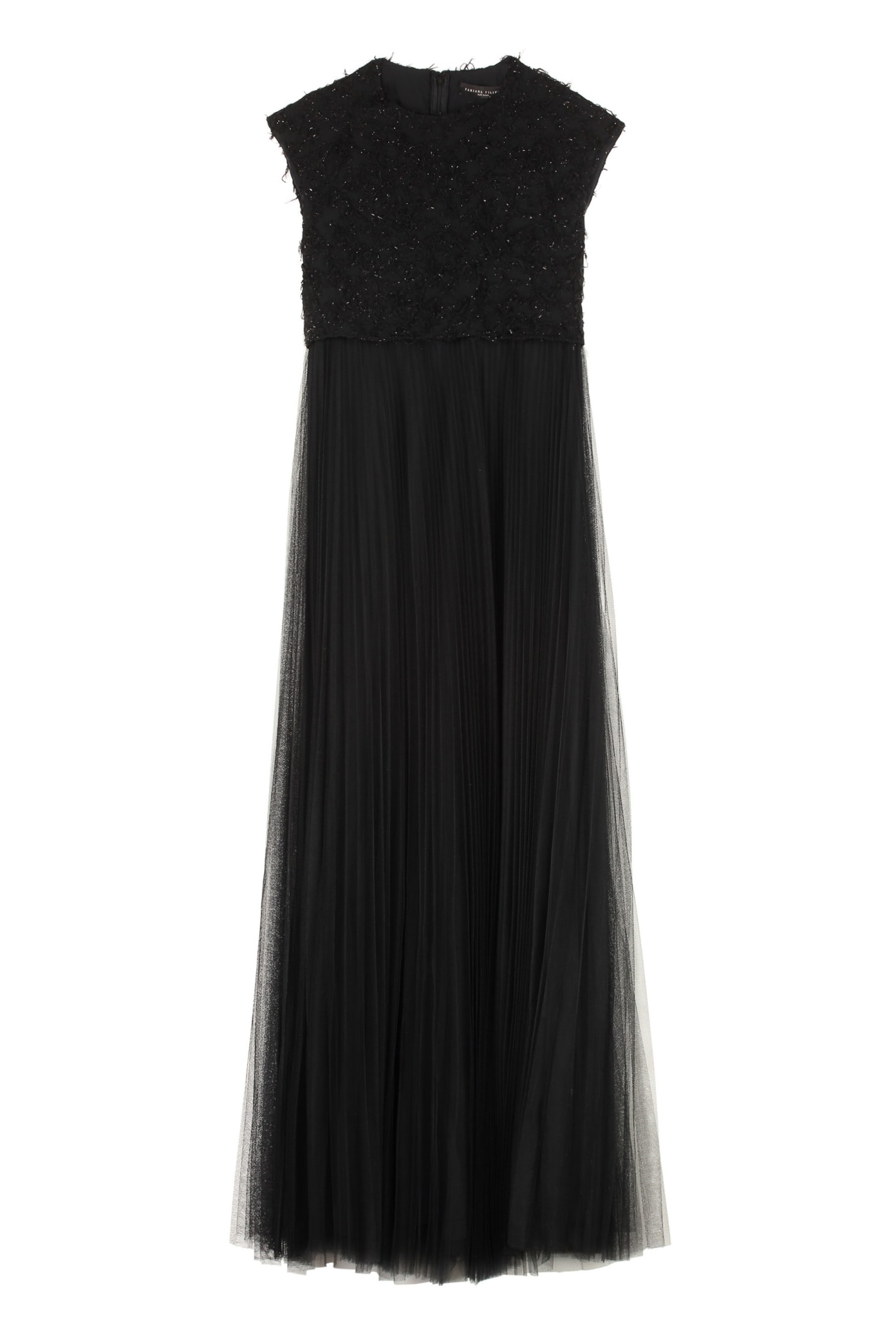 Fabiana Filippi Tulle Skirt Long Dress