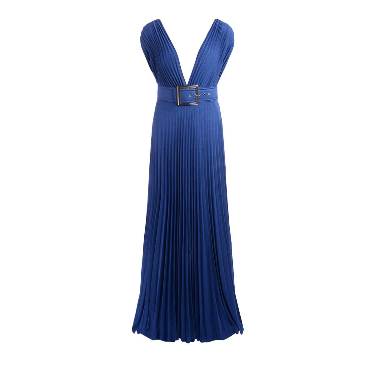Buy Elisabetta Franchi Dress In Cobalt Blue Lurex online, shop Elisabetta Franchi Celyn B. with free shipping