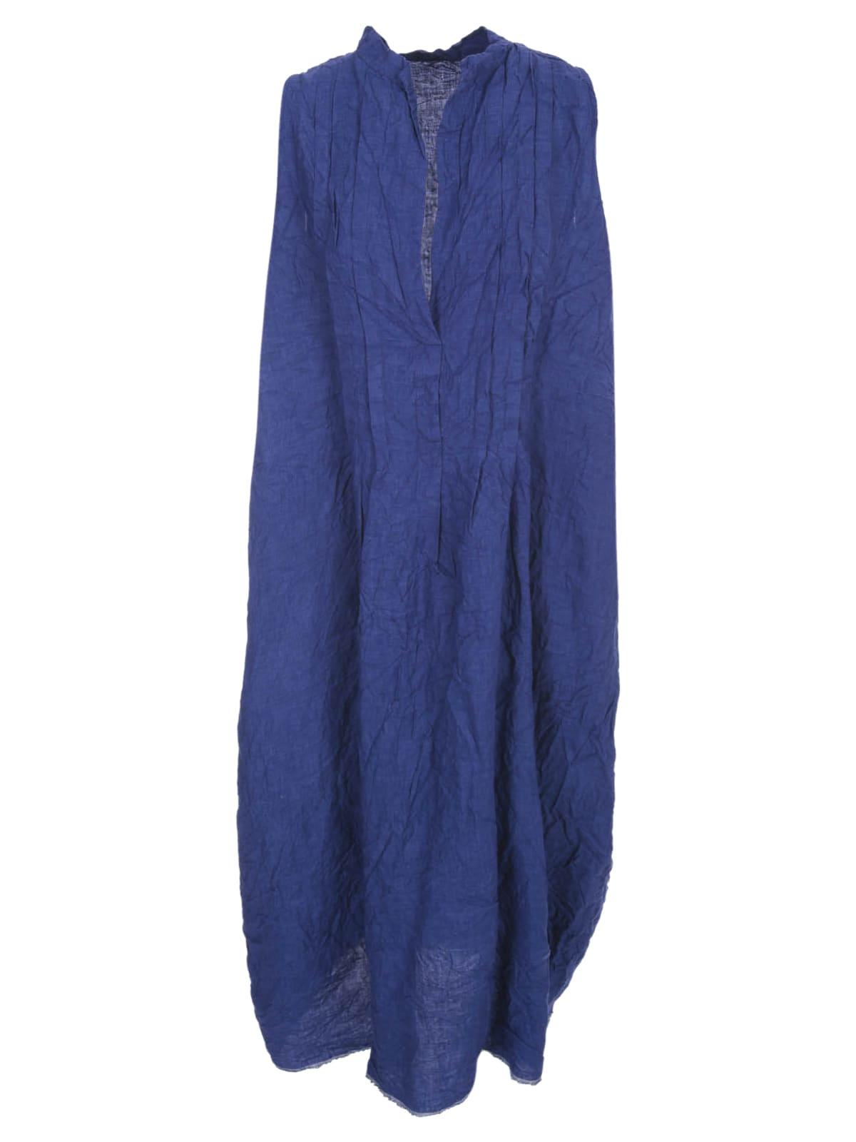 Buy Daniela Gregis Linen Dress W/s Crew Neck W/pleats online, shop Daniela Gregis with free shipping
