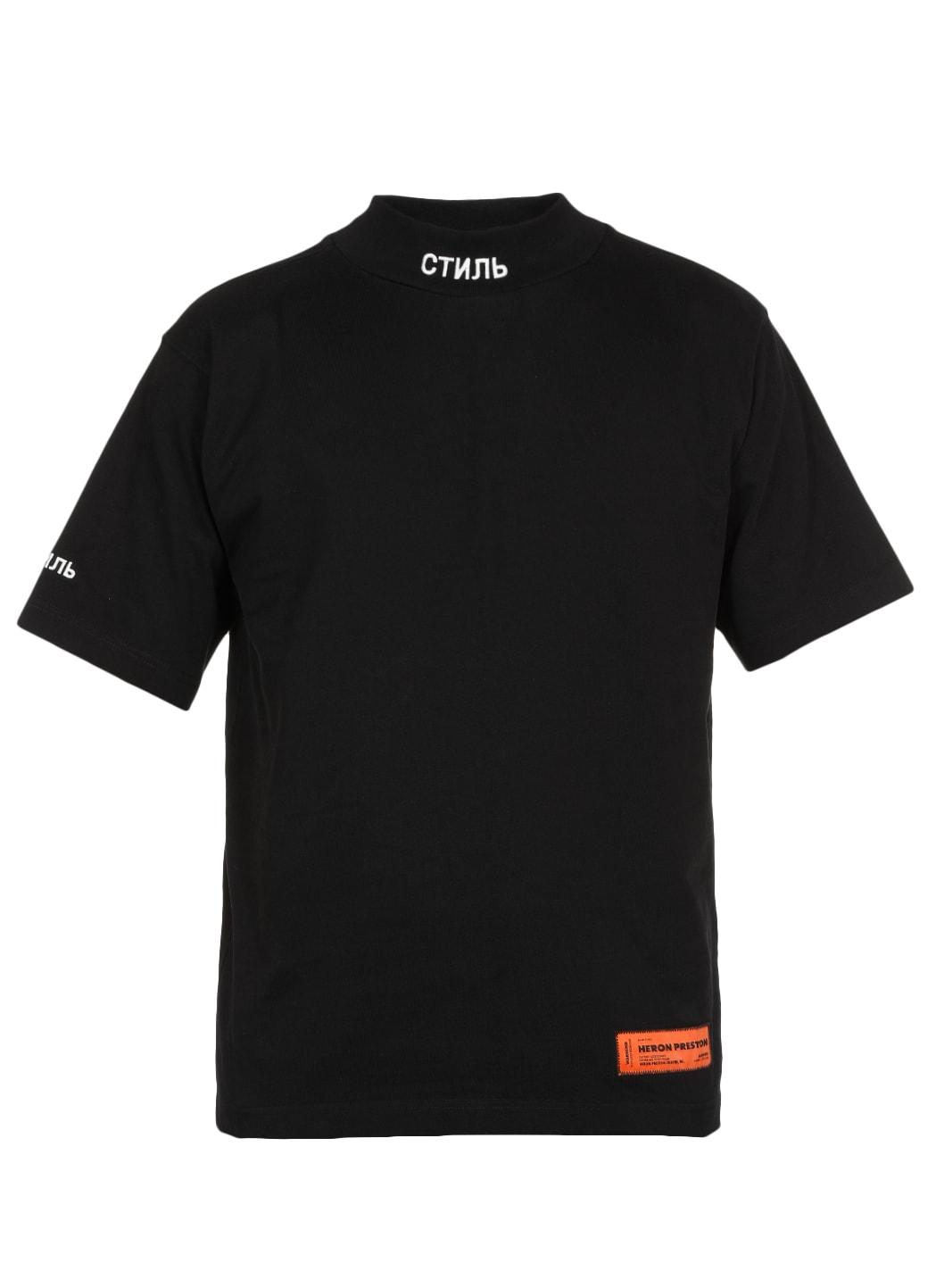 Heron Preston Cotton T-shirt In Black White