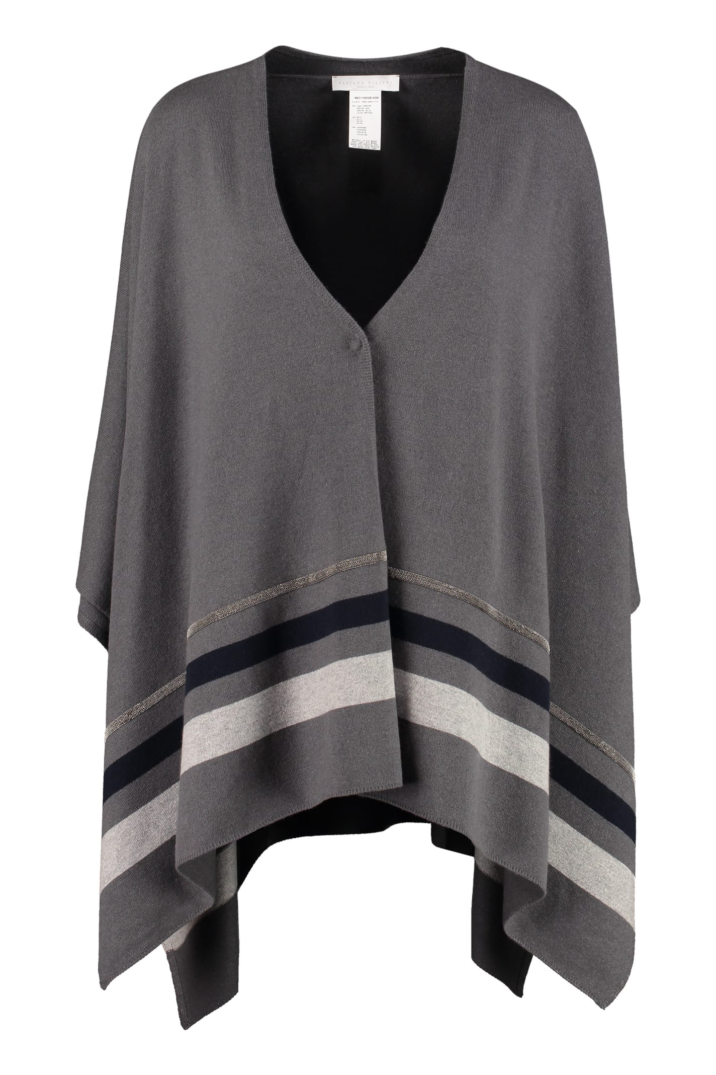 Fabiana Filippi Wool, Silk And Cashmere Cape