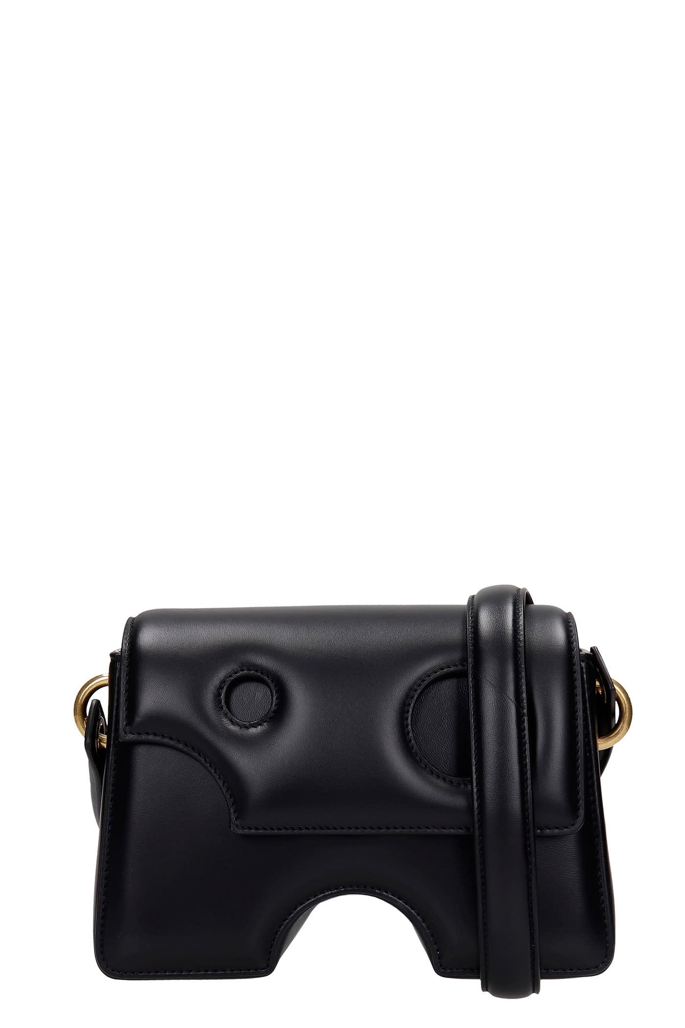 Off-White SHOULDER BAG IN BLACK LEATHER